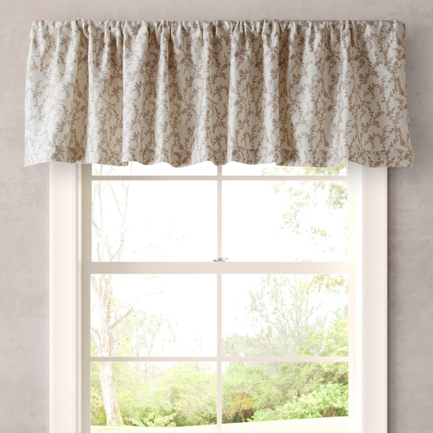 laura ashley home victoria 86 curtain valance reviews. Black Bedroom Furniture Sets. Home Design Ideas