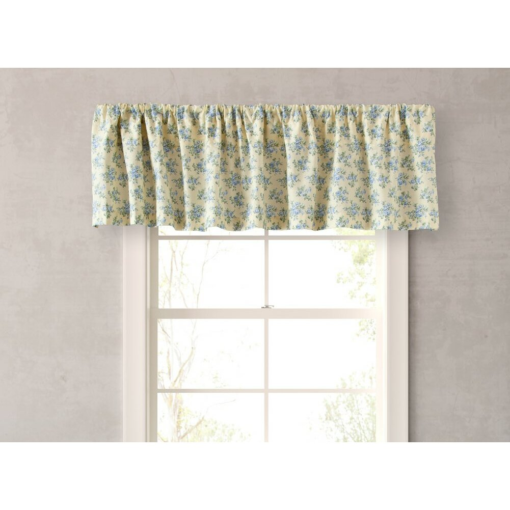 laura ashley home caroline 86 curtain valance reviews. Black Bedroom Furniture Sets. Home Design Ideas