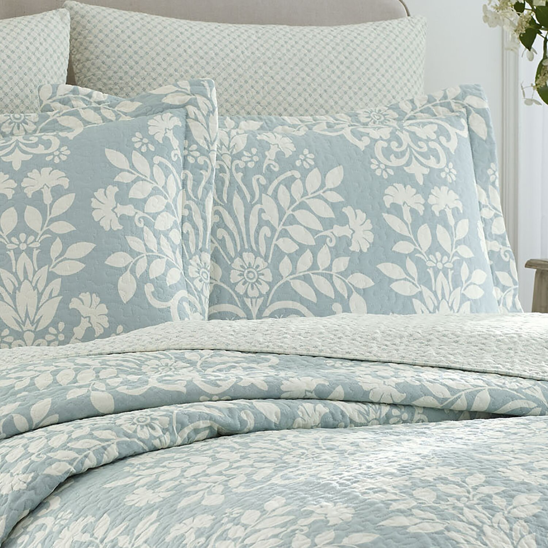 laura ashley home rowland coverlet set reviews wayfair. Black Bedroom Furniture Sets. Home Design Ideas