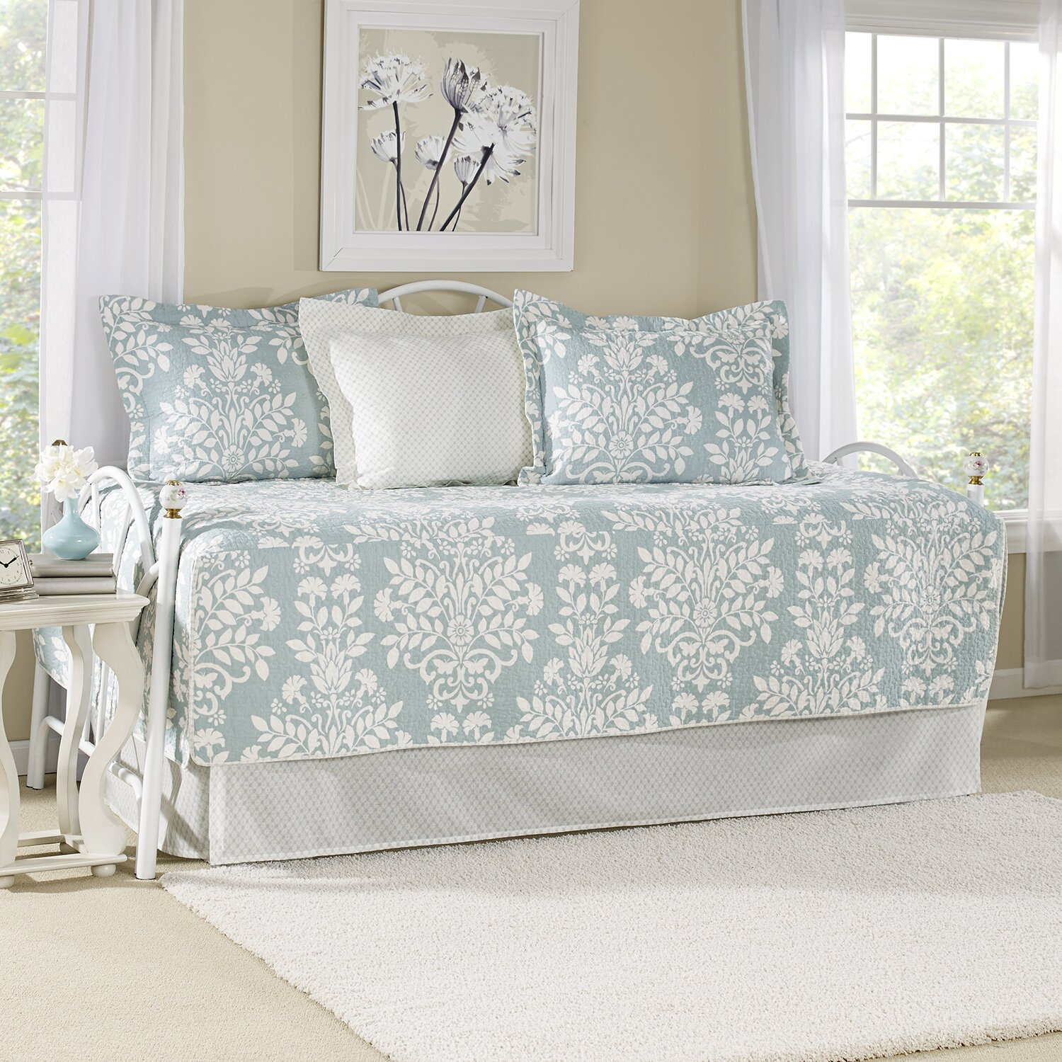 laura ashley home rowland coverlet set reviews wayfair. Black Bedroom Furniture Sets. Home Design Ideas