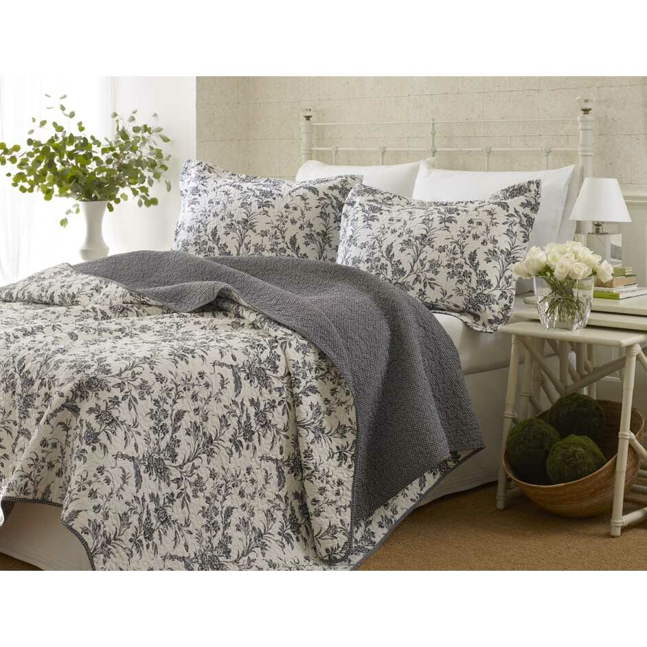 laura ashley home amberley coverlet set reviews wayfair. Black Bedroom Furniture Sets. Home Design Ideas