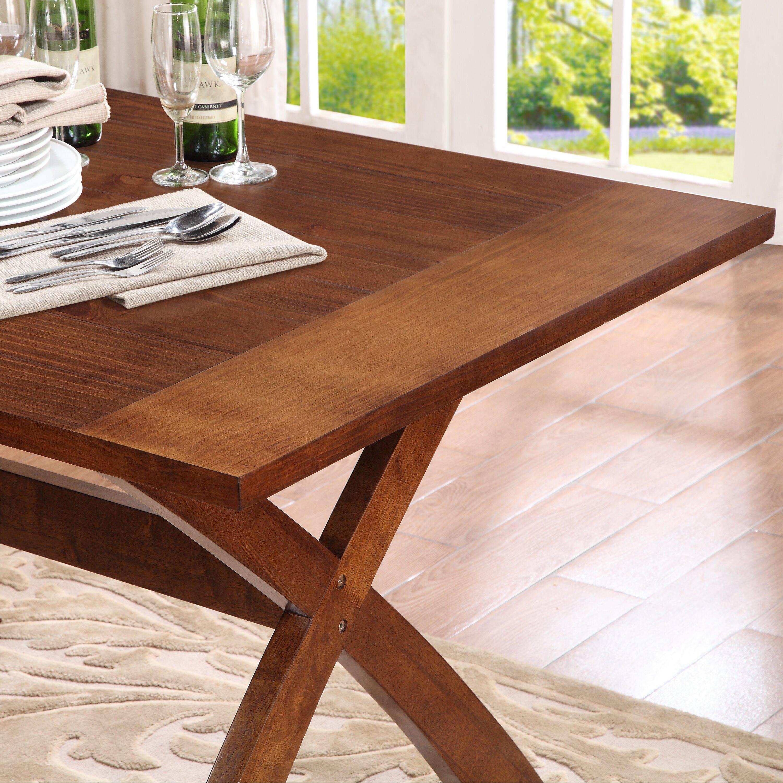Dorel Living Trestle Dining Table Amp Reviews Wayfair