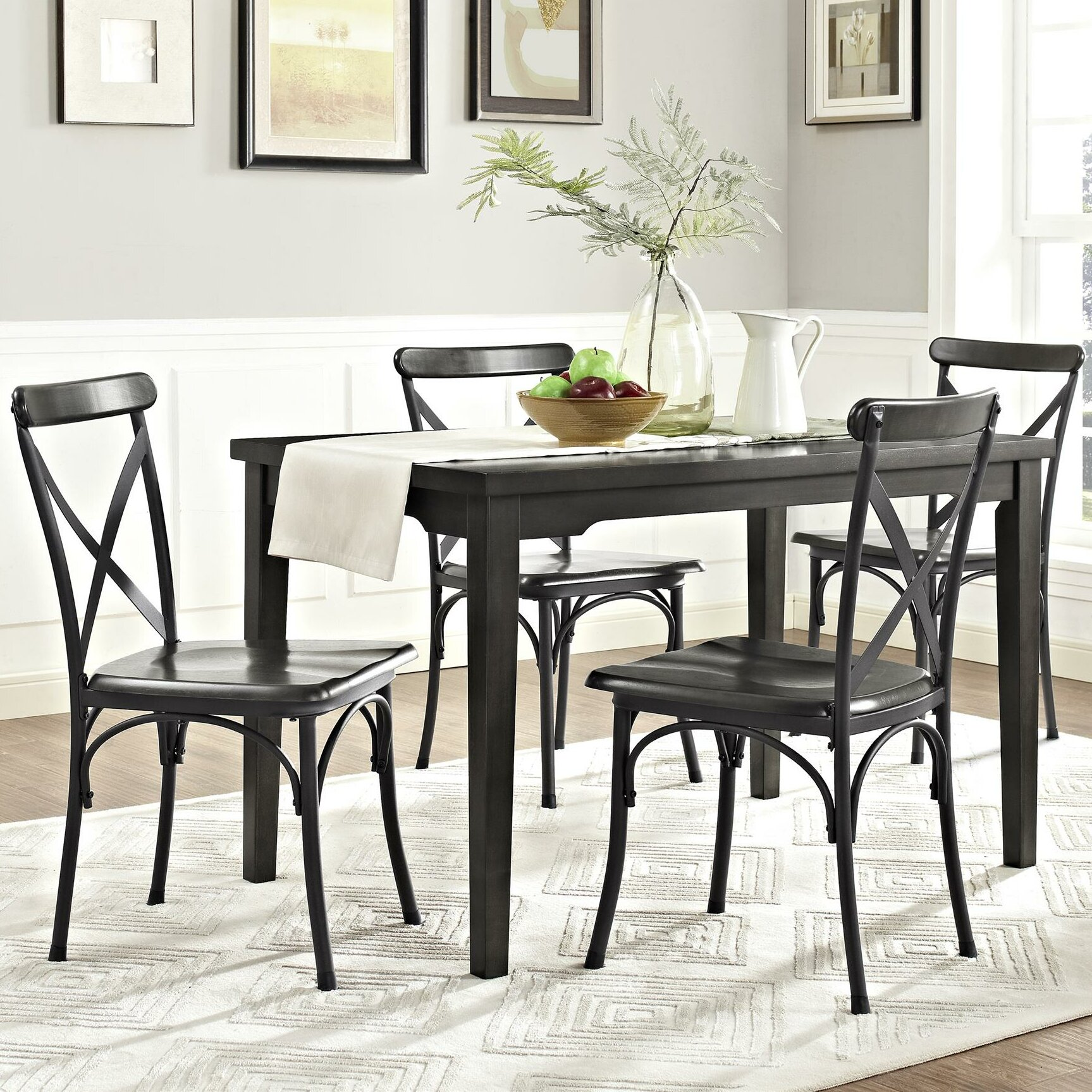 Dorel living parker 5 piece dining set reviews wayfair for Living room 5 piece sets