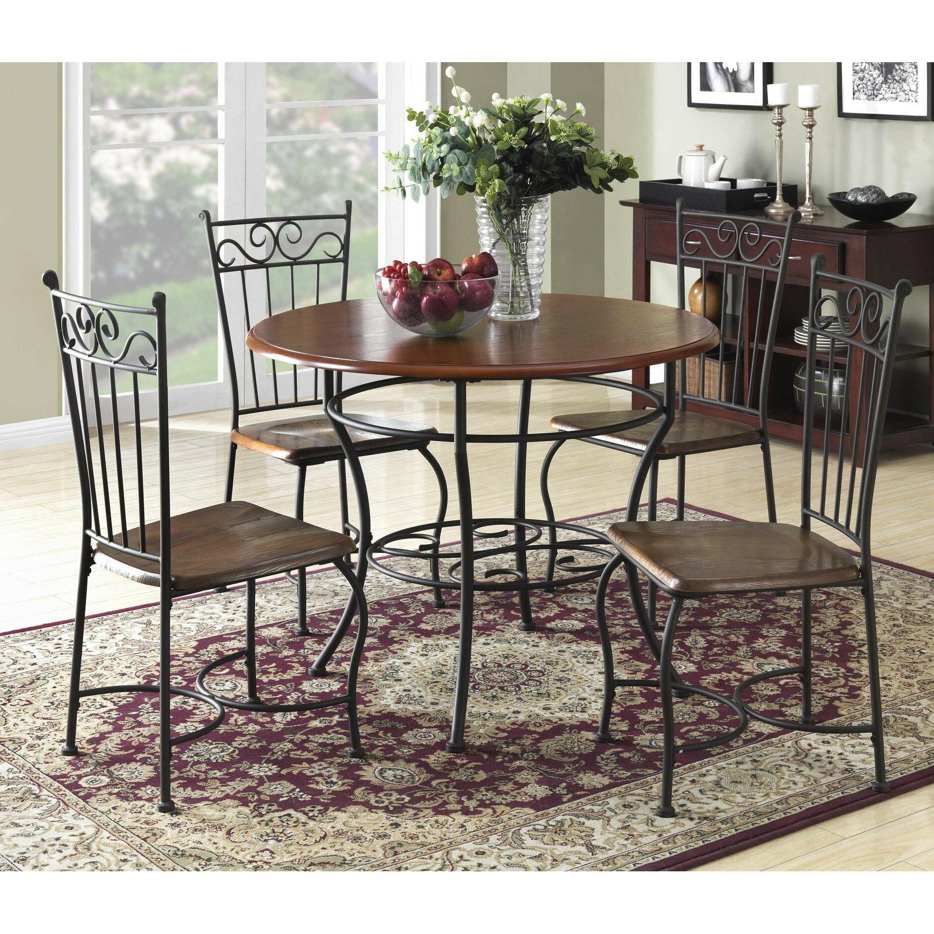 Dorel living 5 piece dining set reviews wayfair for Living room 5 piece sets