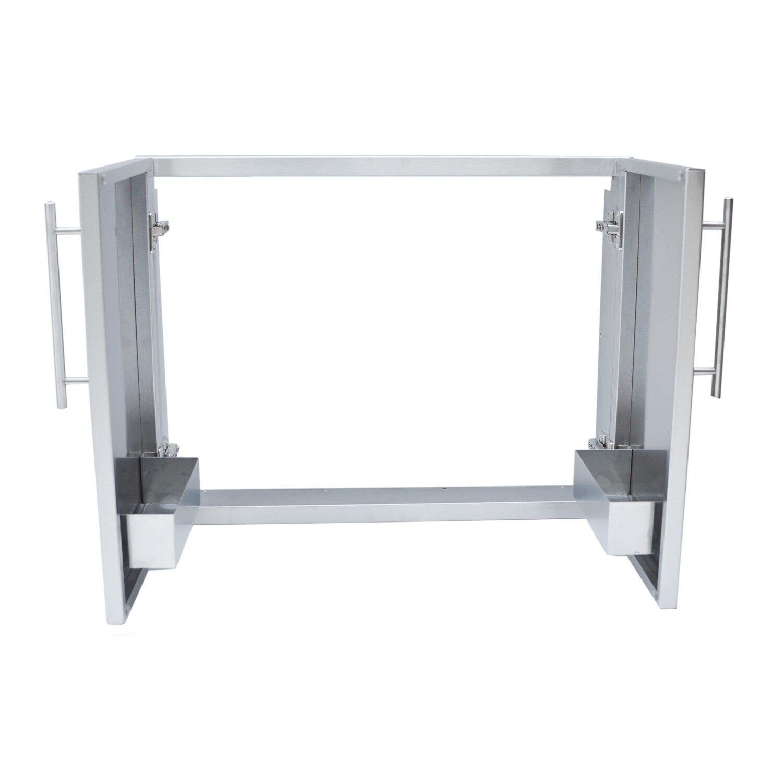 Sunstone Grills Outdoor Kitchen 30 Double Access Door With Shelves Amp
