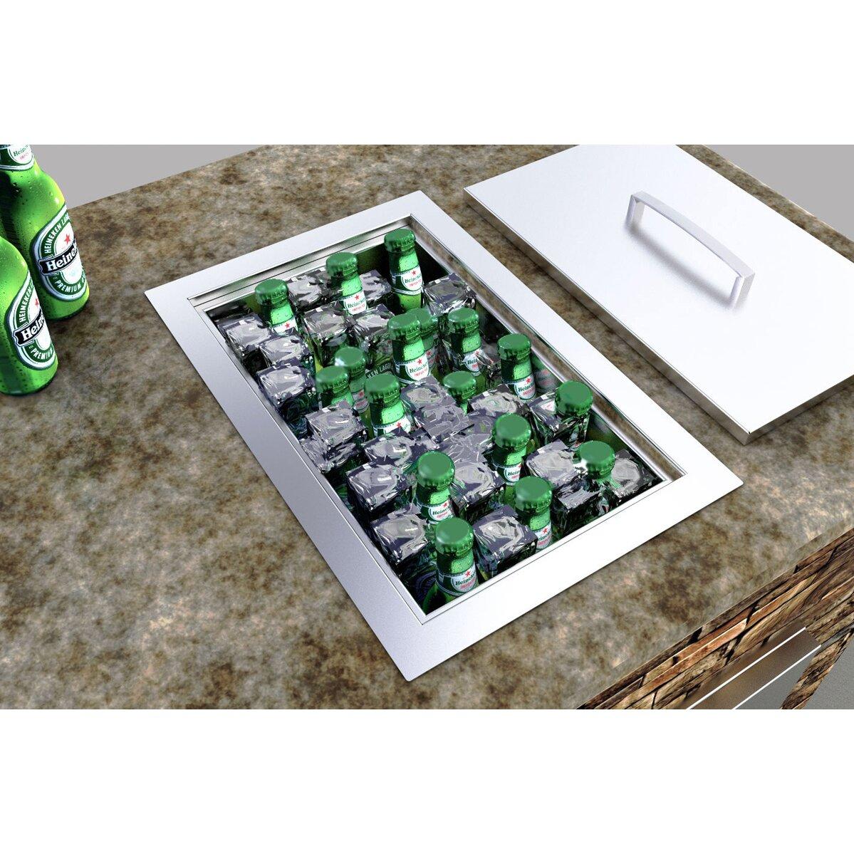 Sunstone Grills Outdoor Kitchen Single Basin Insulated Ice