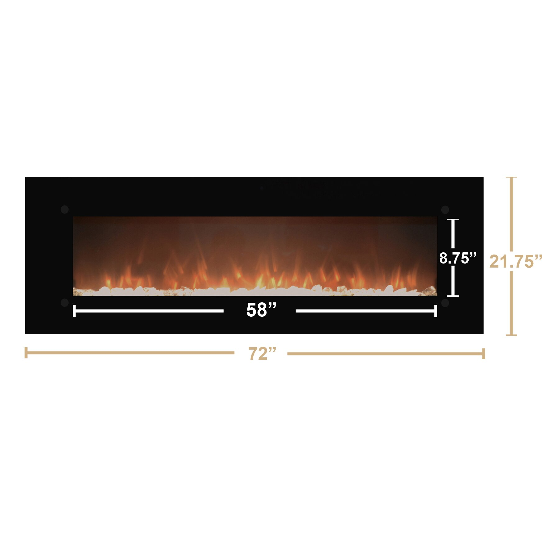 Touchstone Onyxxl Wall Mount Electric Fireplace Reviews Wayfair