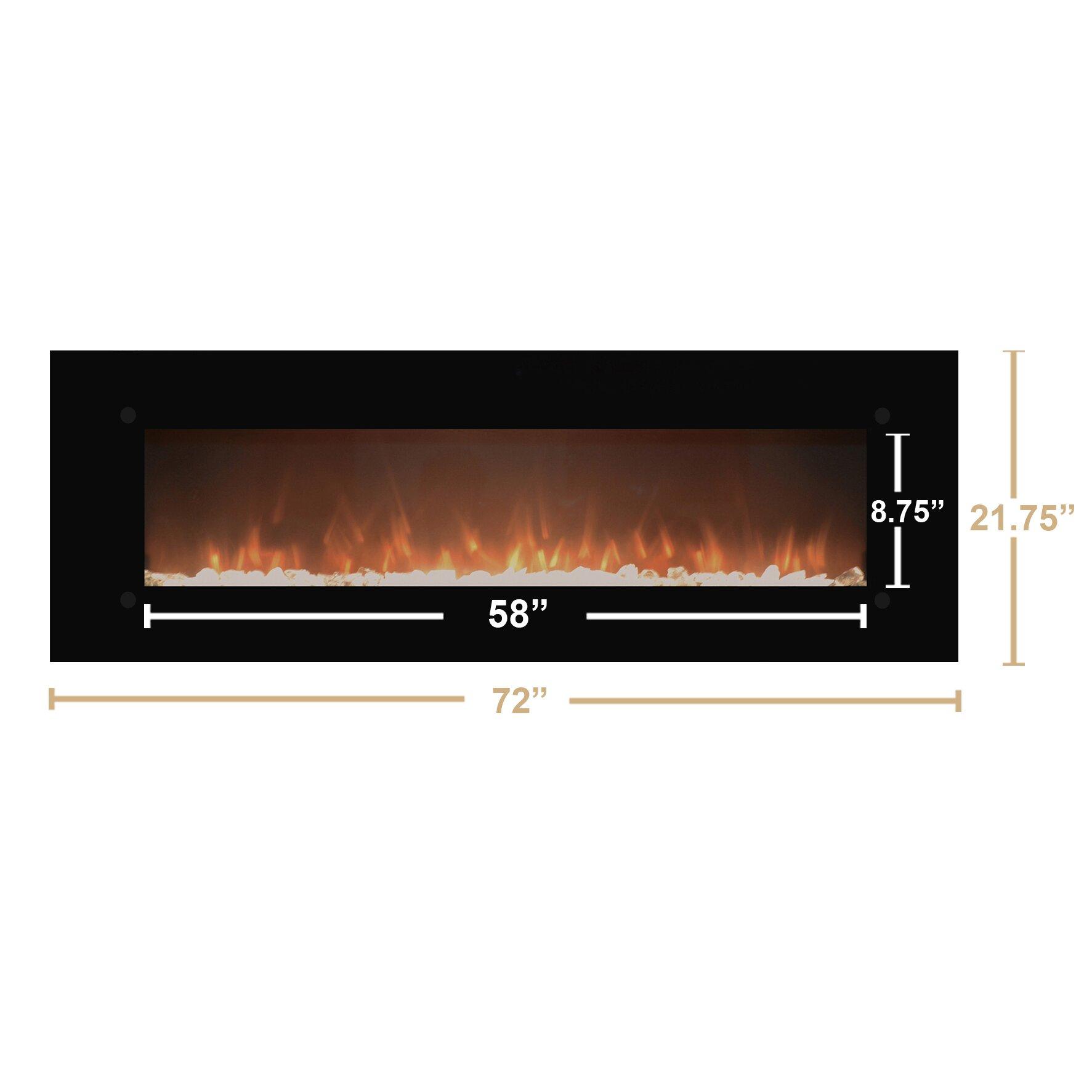 Touchstone Onyxxl Wall Mount Electric Fireplace Reviews Wayfair