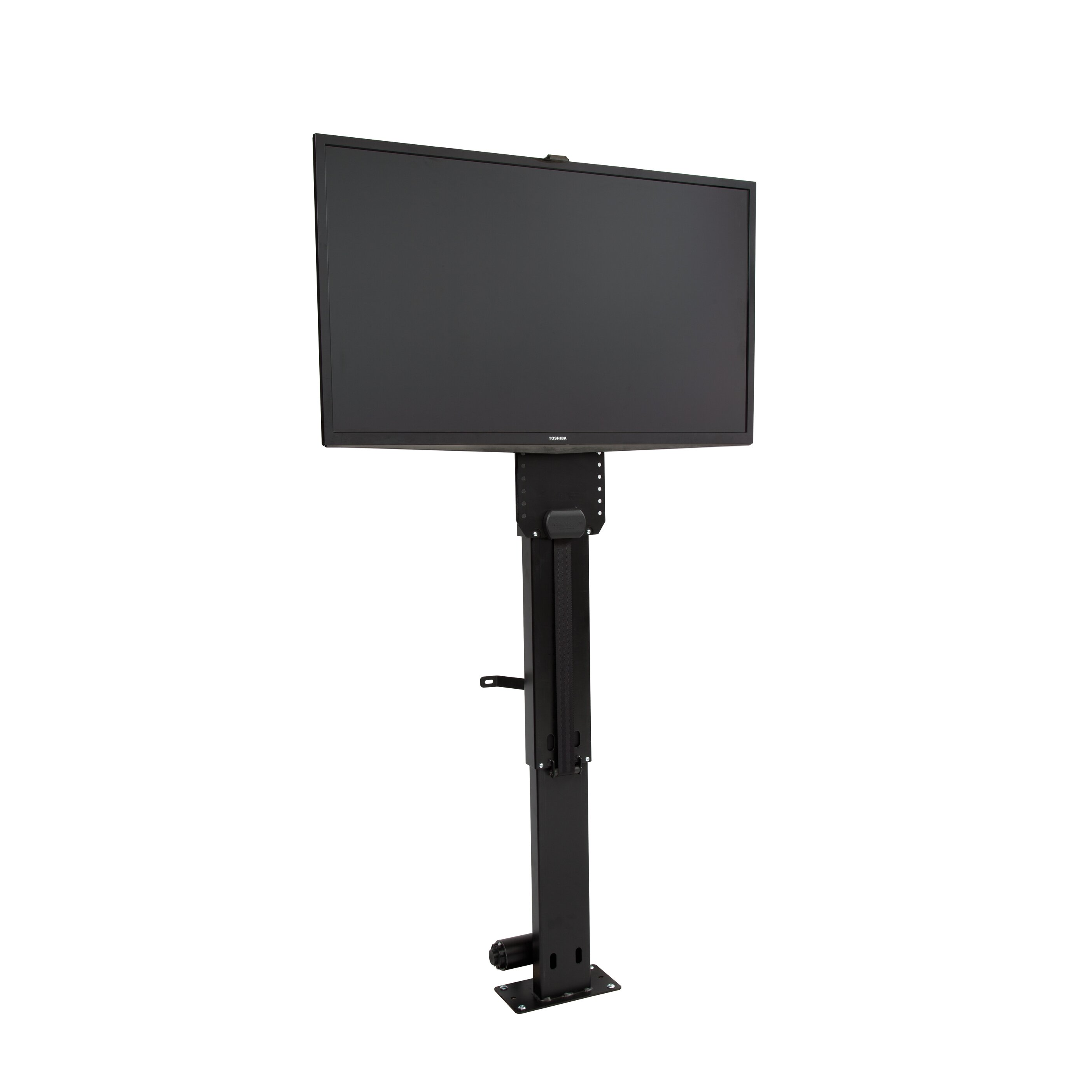 Touchstone whisper lift ii pro motorized floor stand mount for Motorized flat screen tv lift