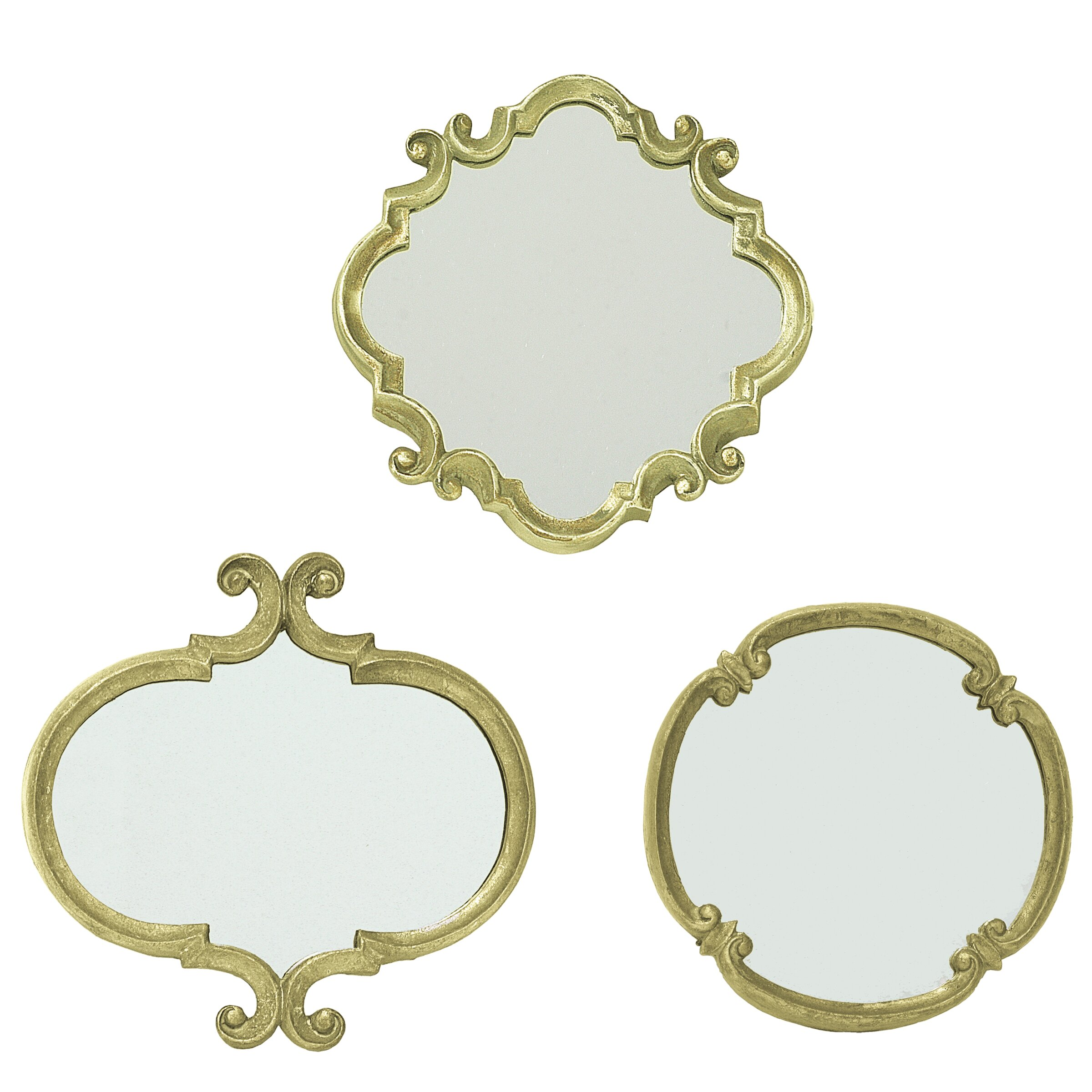 selectives 3 piece meadow wall mirror set reviews wayfair. Black Bedroom Furniture Sets. Home Design Ideas