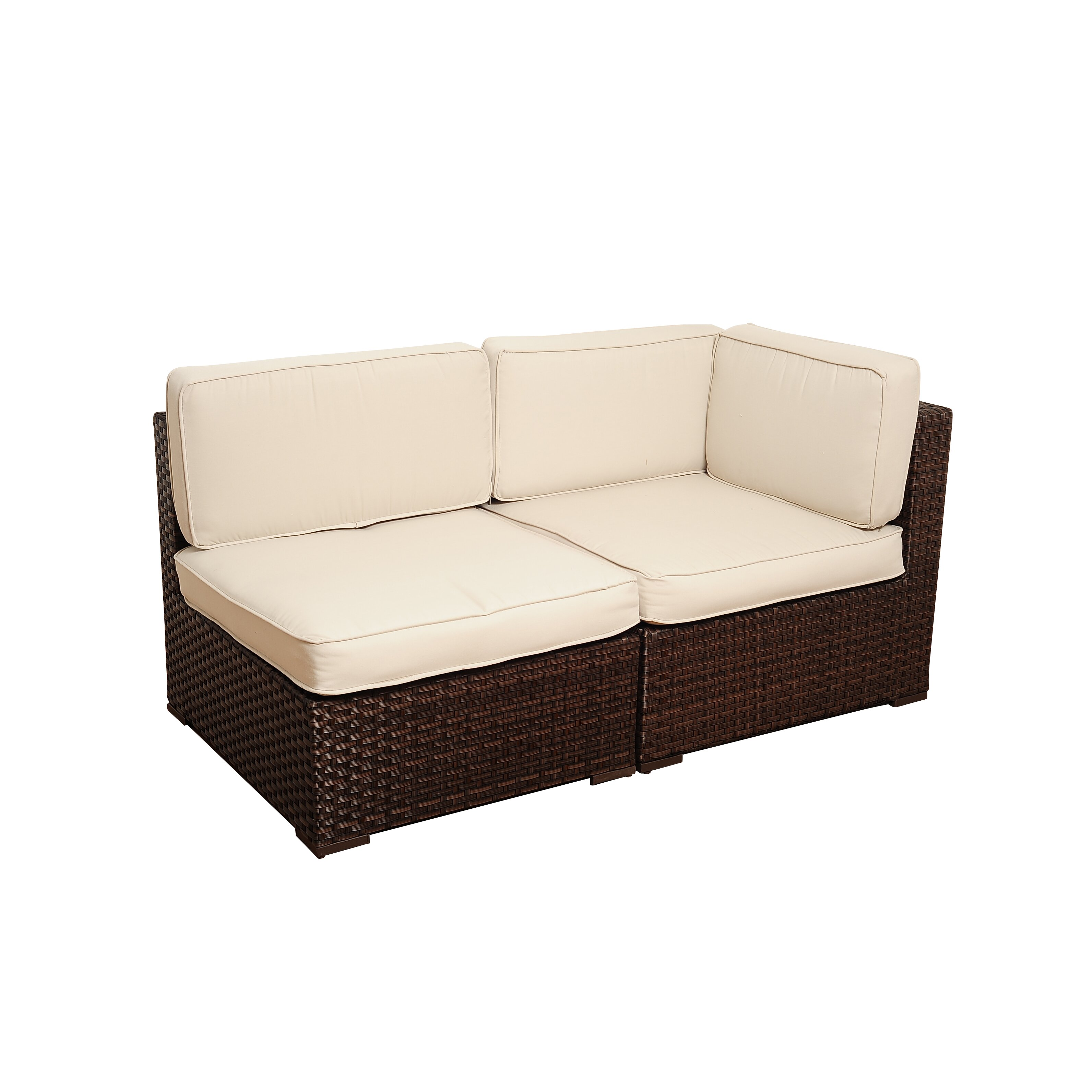 International Home Miami Montecarlo Sectional Sofa With