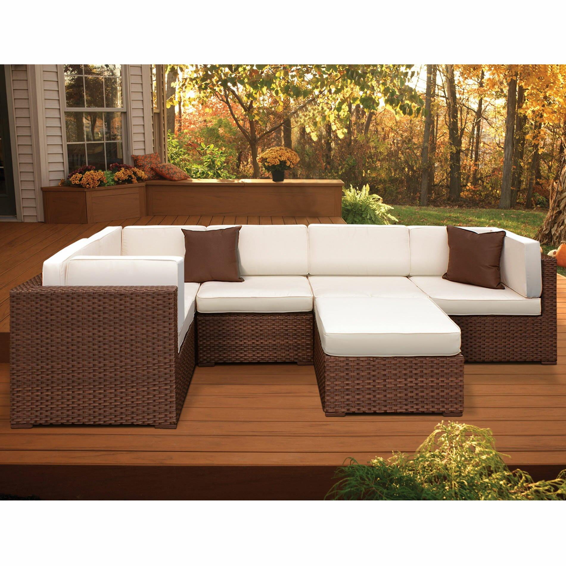 Atlantic Patio Furniture Reviews: International Home Miami Montecarlo Sectional Sofa With