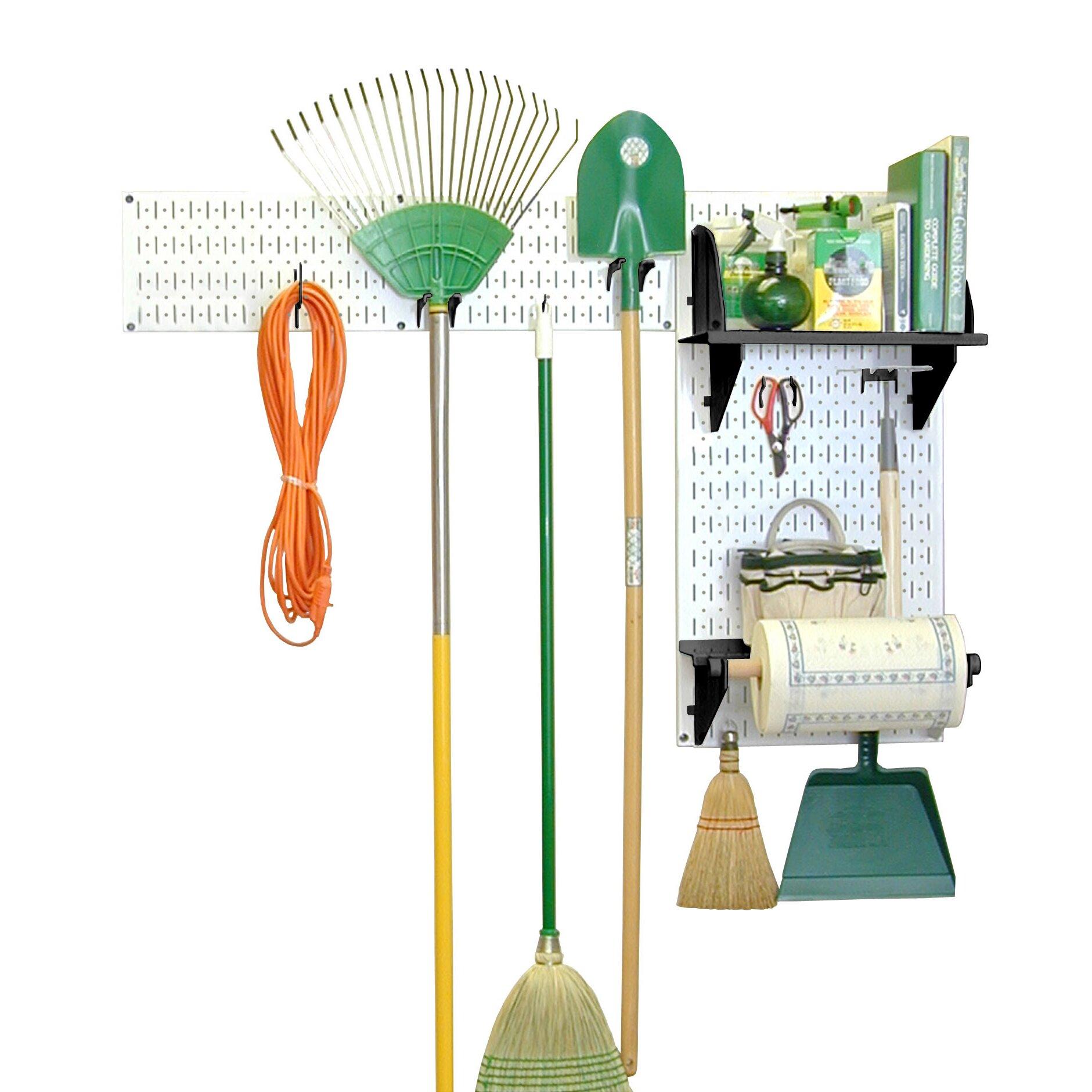 Wall control pegboard garden tool board organizer kit for Gardening tools organizer