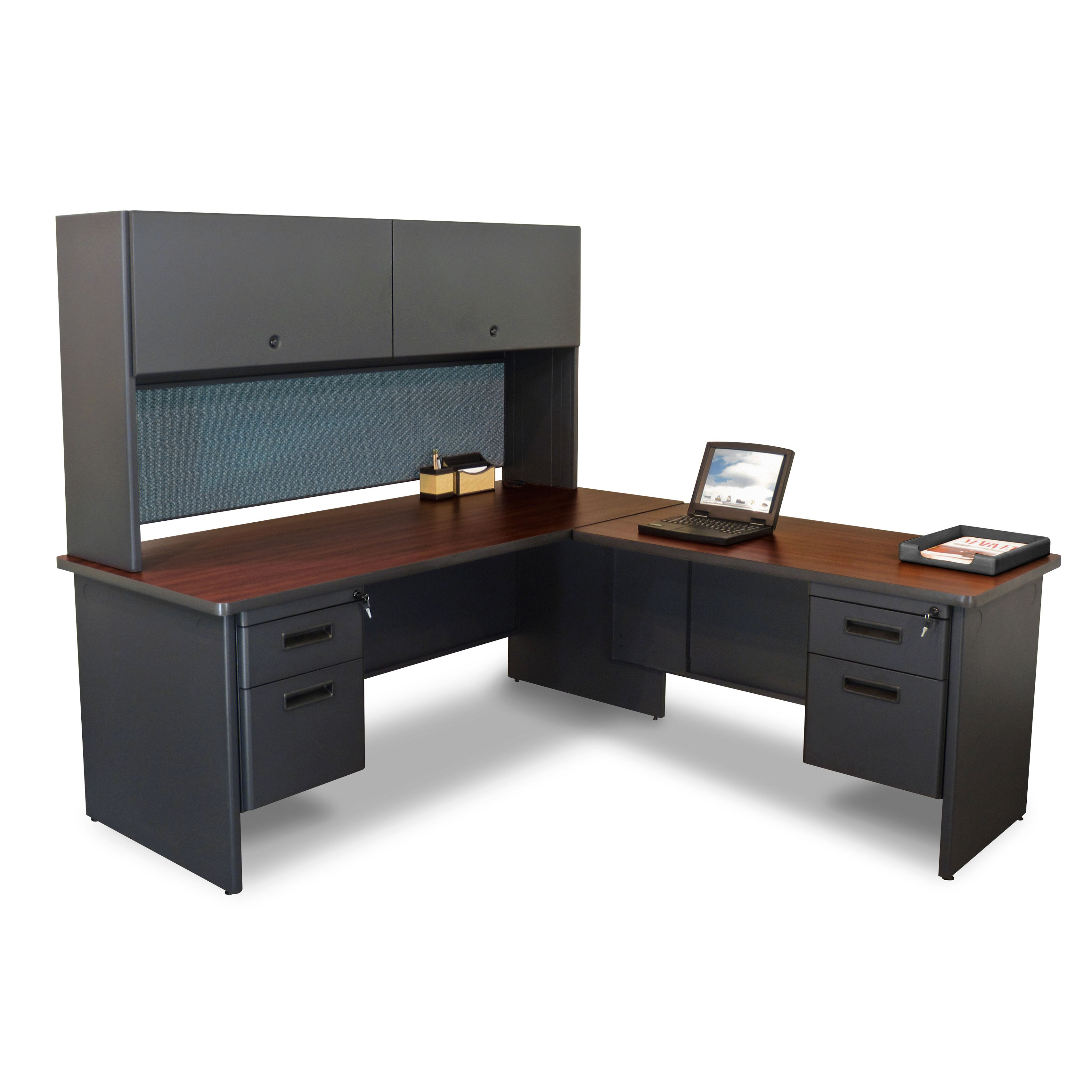 office furniture pronto return and pedestal l shape executive desk
