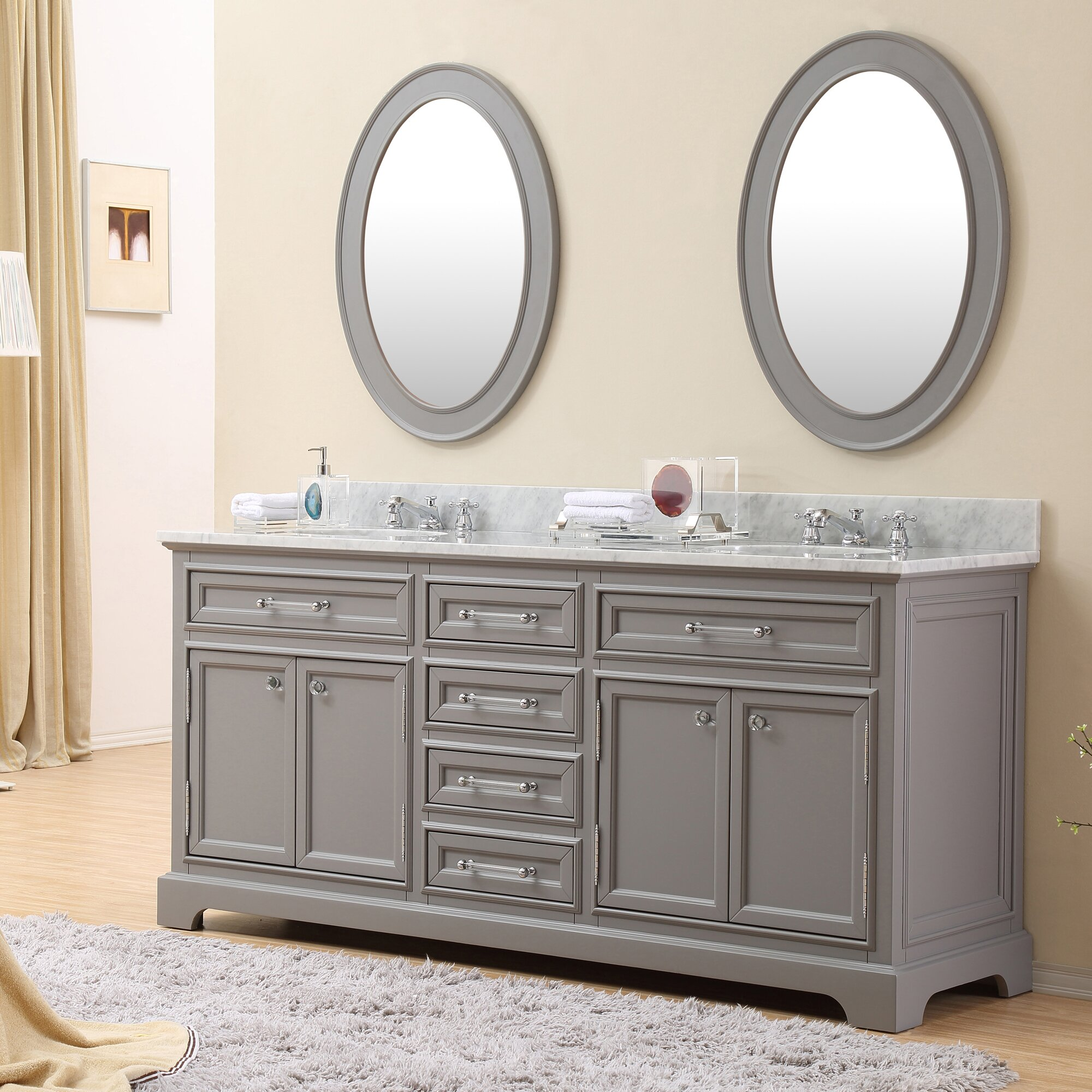 Grey bedroom vanity set : Darby home co colchester quot double sink bathroom vanity