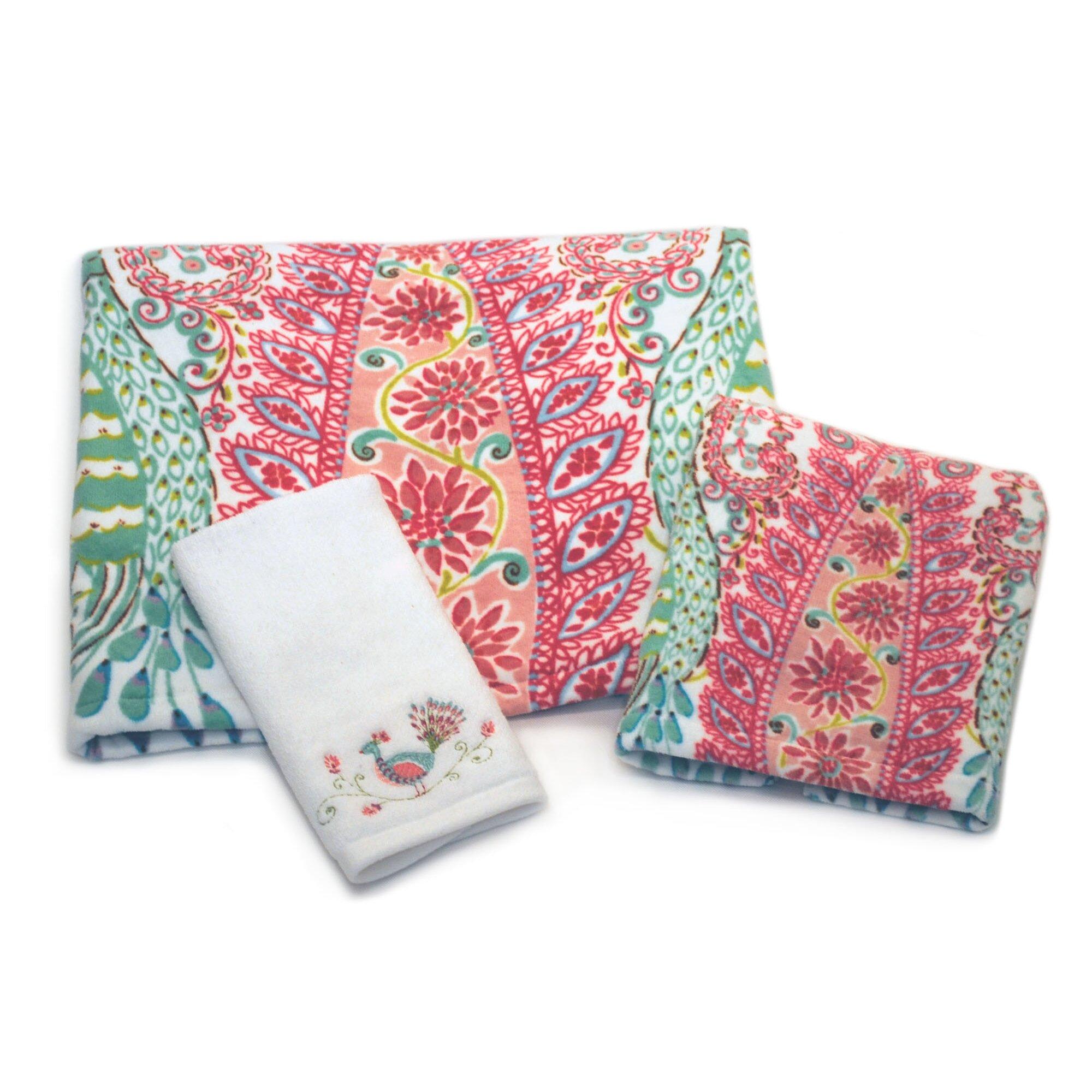 Dena Designs Peacock Hand Towel & Reviews | Wayfair