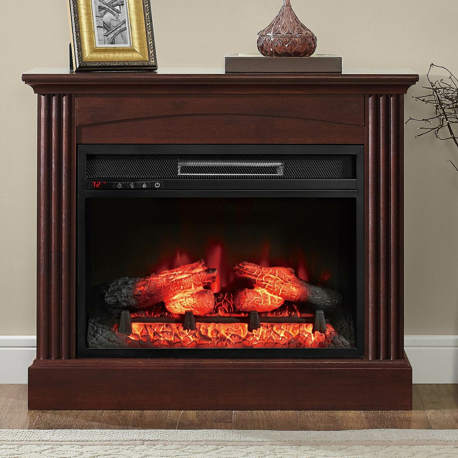 Whalen Furniture Glaston Electric Fireplace Amp Reviews Wayfair . - Electric Fireplaces Hot Tubs Fireplaces Patio Furniture Heat