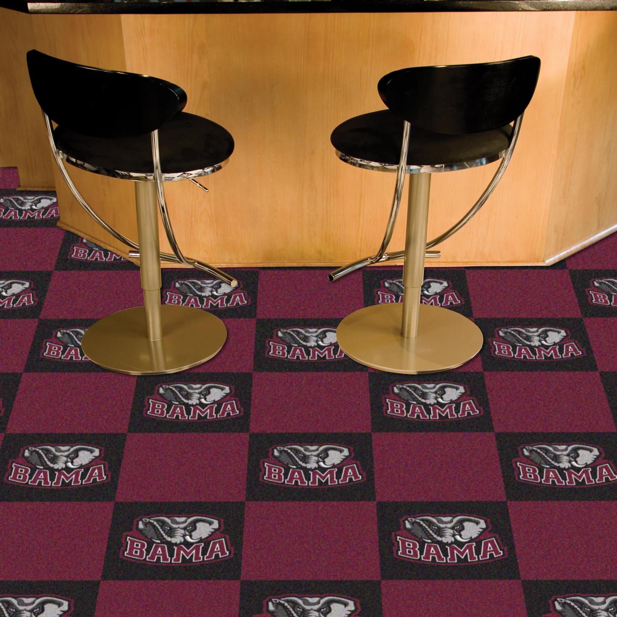 Fanmats Collegiate 18 Quot X 18 Quot Carpet Tiles In Multi Colored