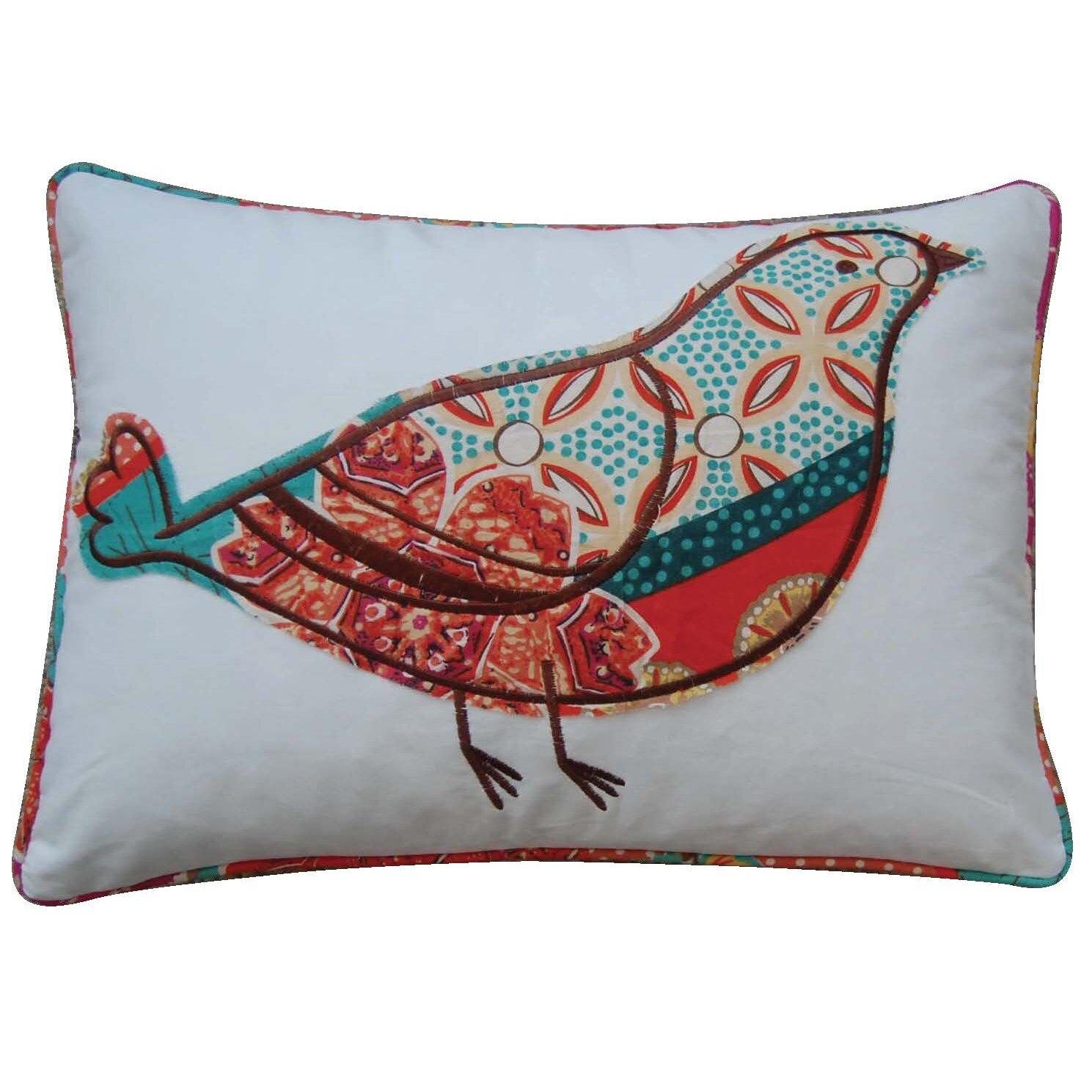 Levtex Home Zanzibar Bird Cotton Throw Pillow & Reviews Wayfair