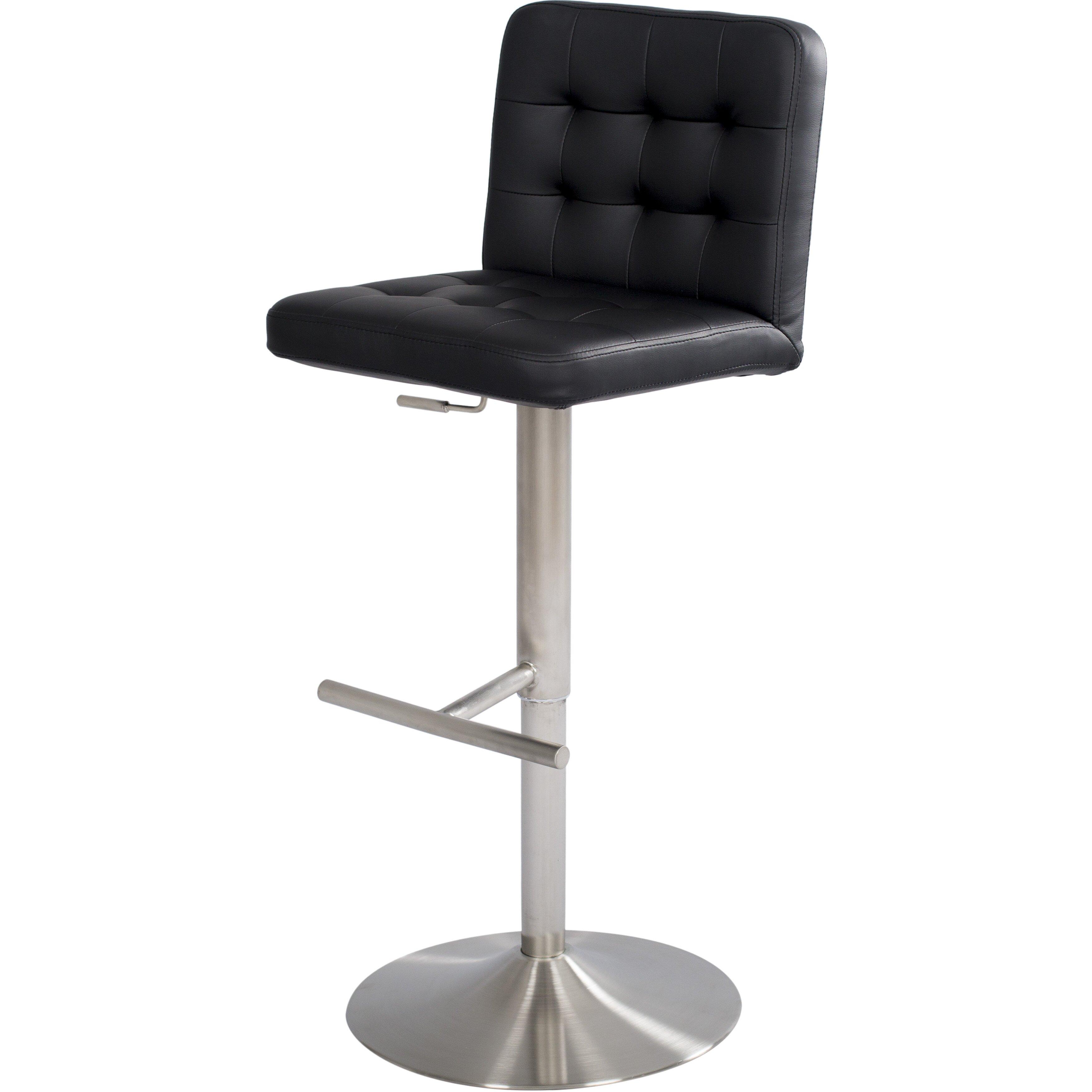 Matrix adjustable height swivel bar stool reviews wayfair for Adjustable height bar stools