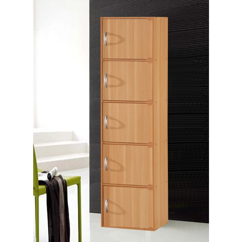 Hodedah 5 door storage cabinet reviews wayfair for 1 door storage cabinet