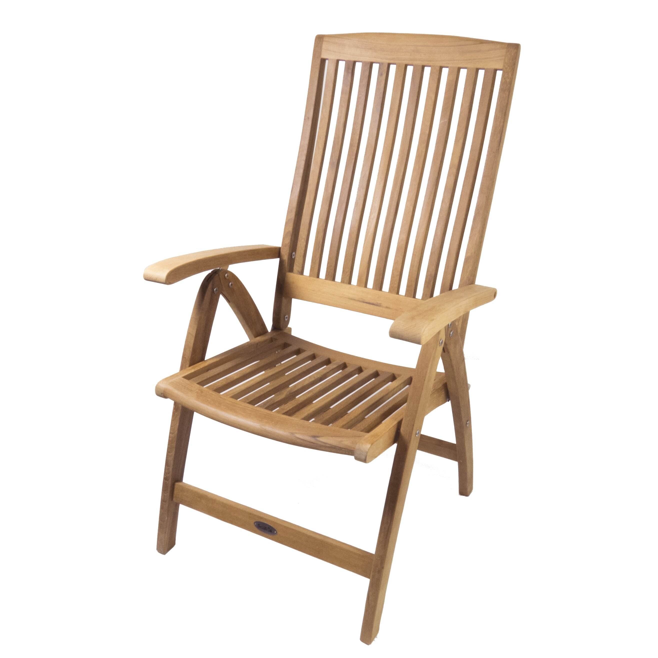 Seateak Weatherly Folding 6 Position Deck Armchair