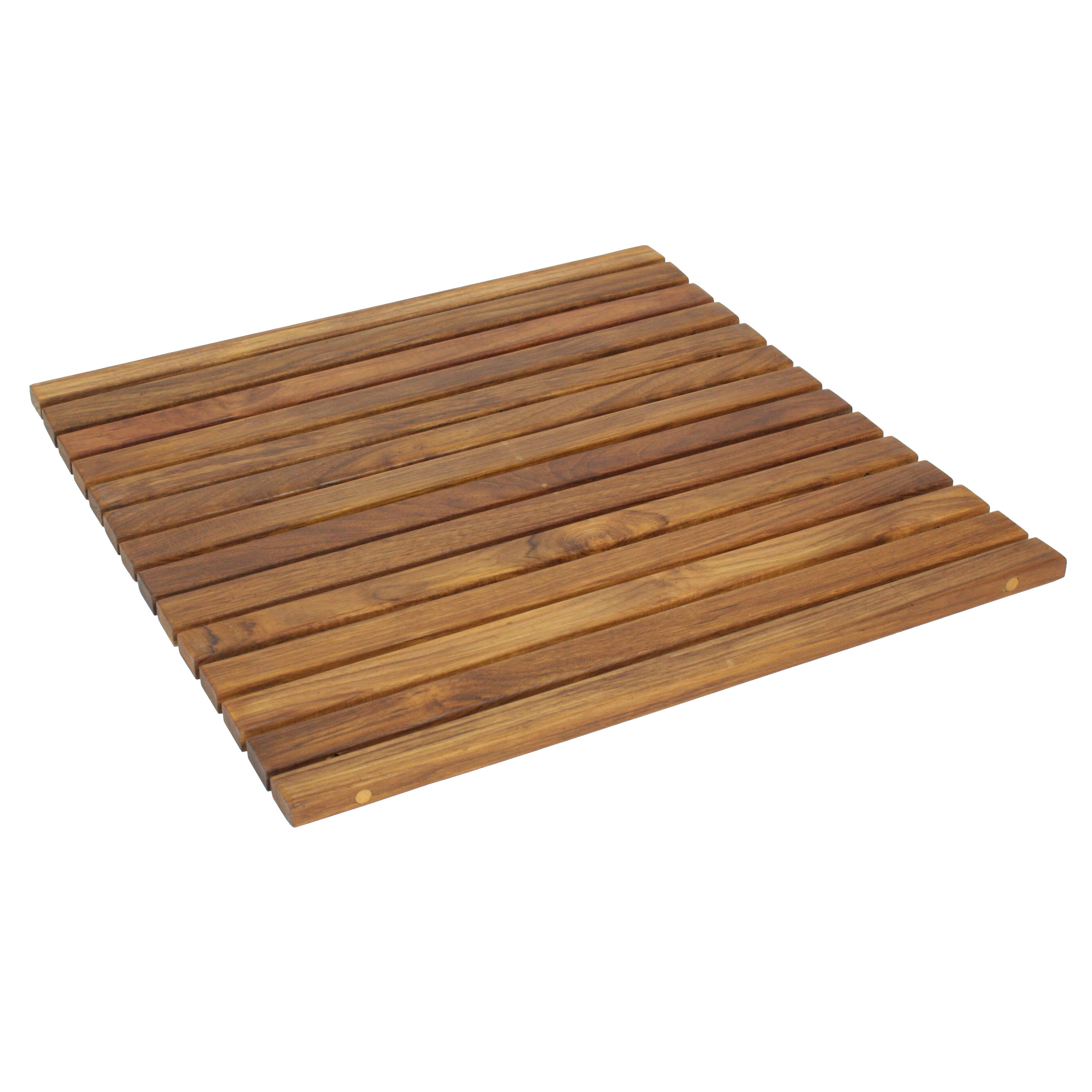 seateak wooden bath mat reviews wayfair. Black Bedroom Furniture Sets. Home Design Ideas