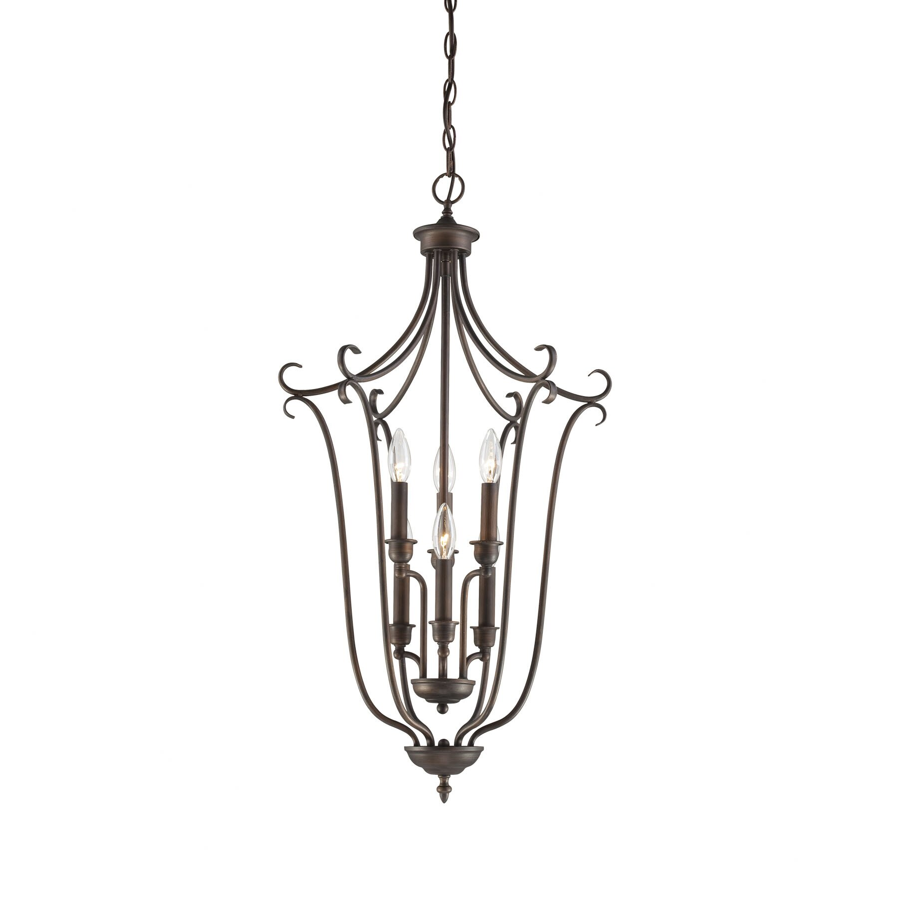 Millennium Lighting Fulton 6 Light Foyer Pendant MNLT1184 on heaters for living room