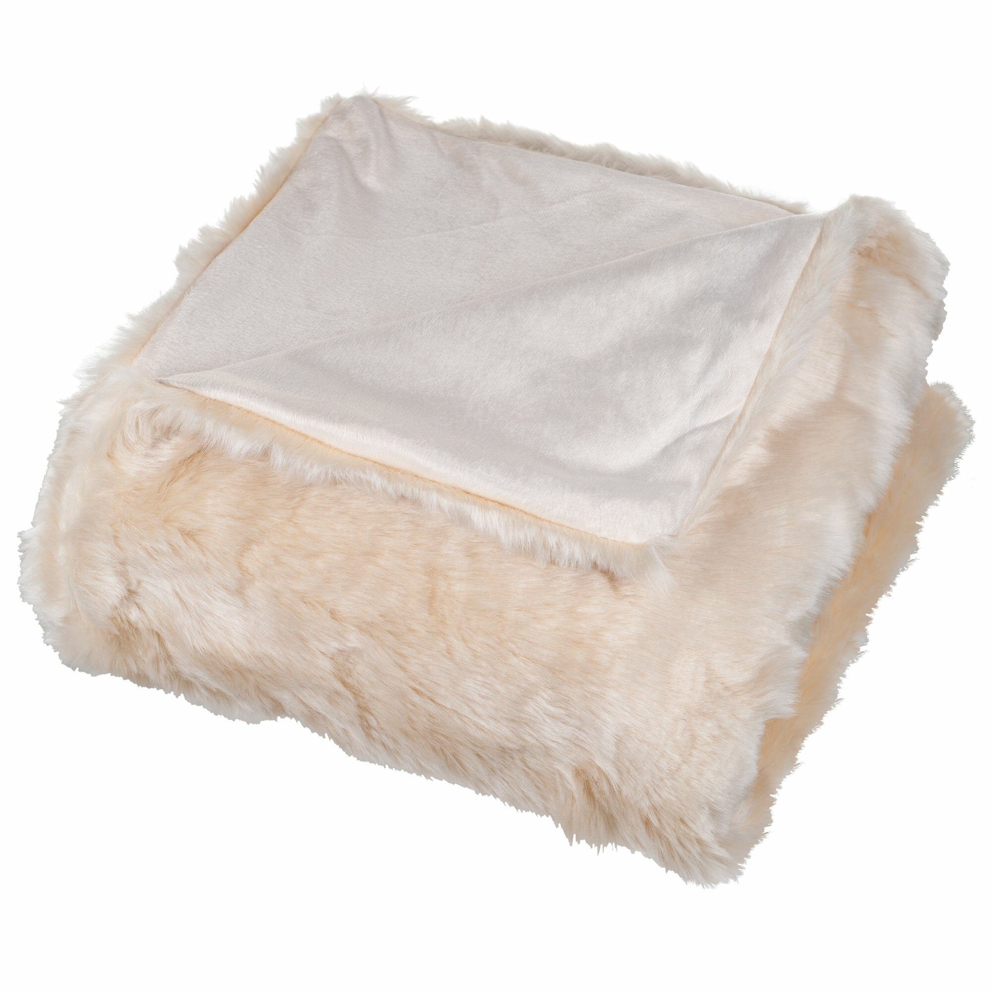 Lavish Home Faux Fur Throw Blanket Amp Reviews Wayfair