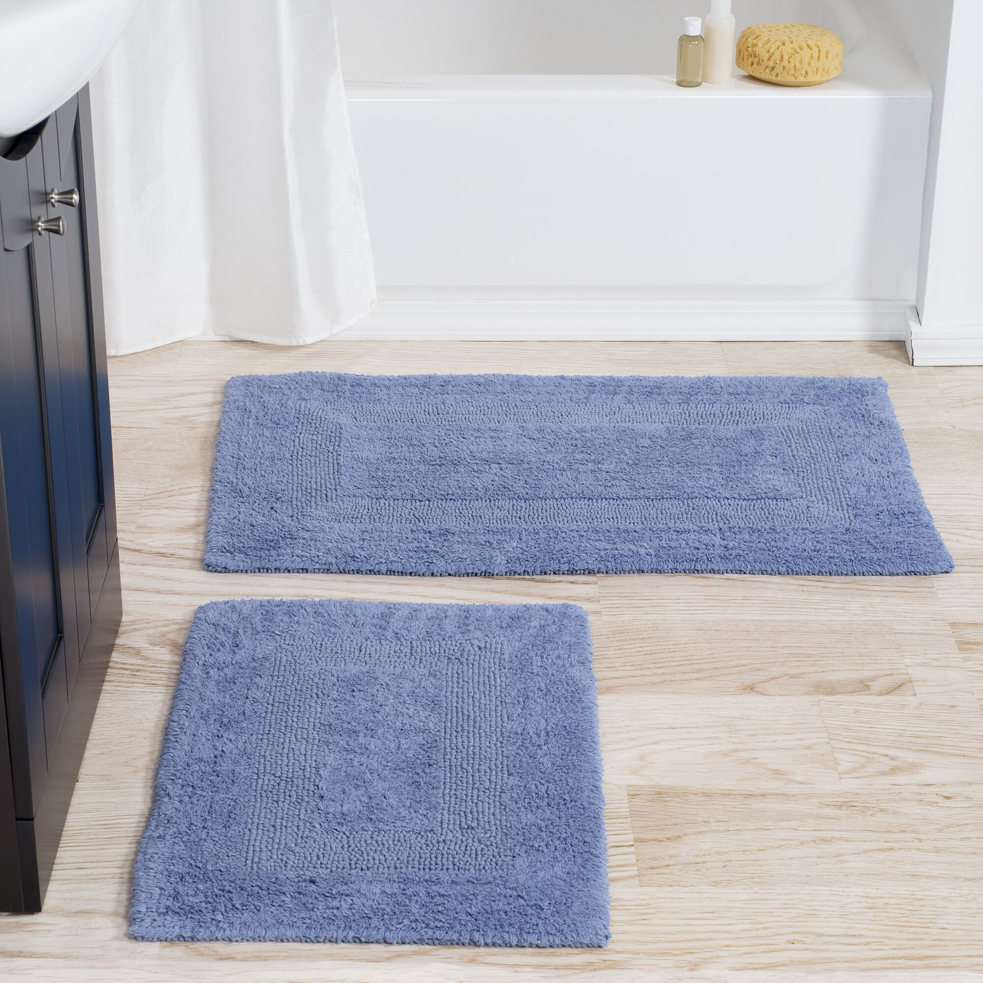 Lavish Home 2 Piece Reversible Bath Rug Set Reviews