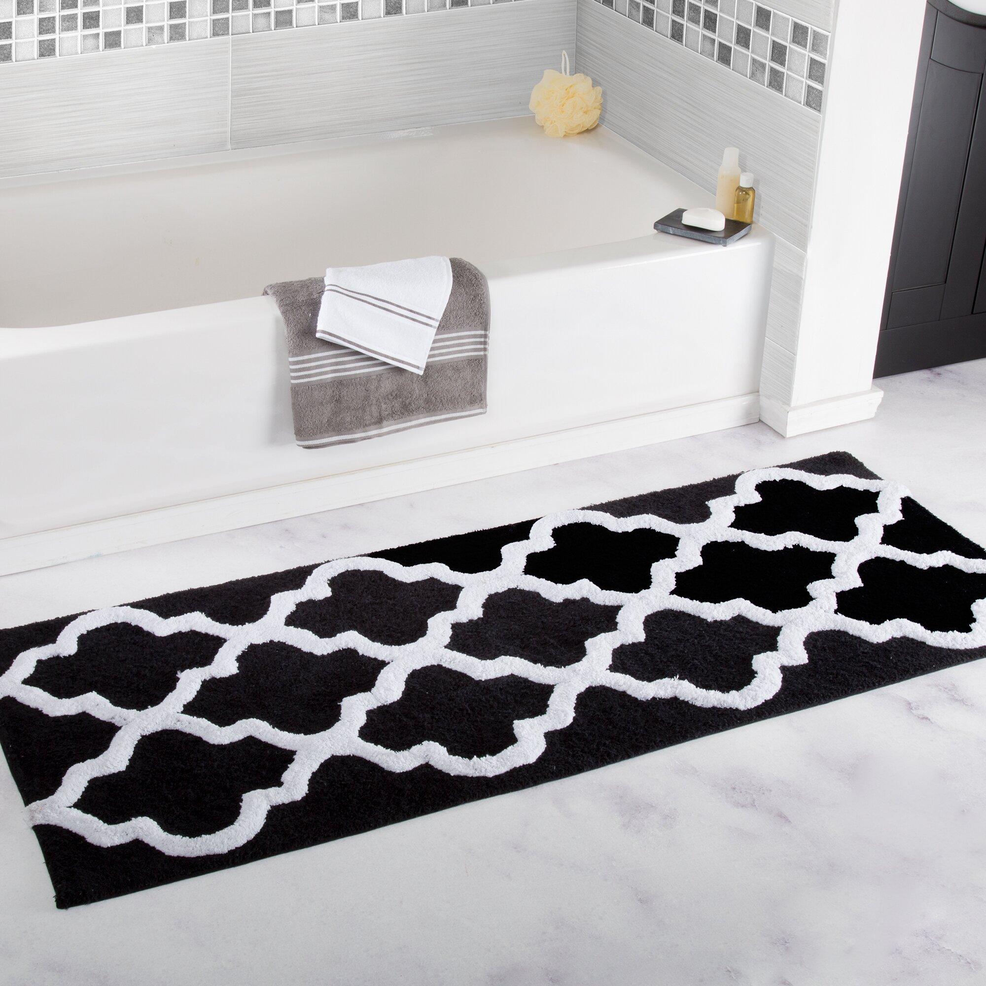 Lavish Home Trellis Cotton Bath Mat Amp Reviews Wayfair