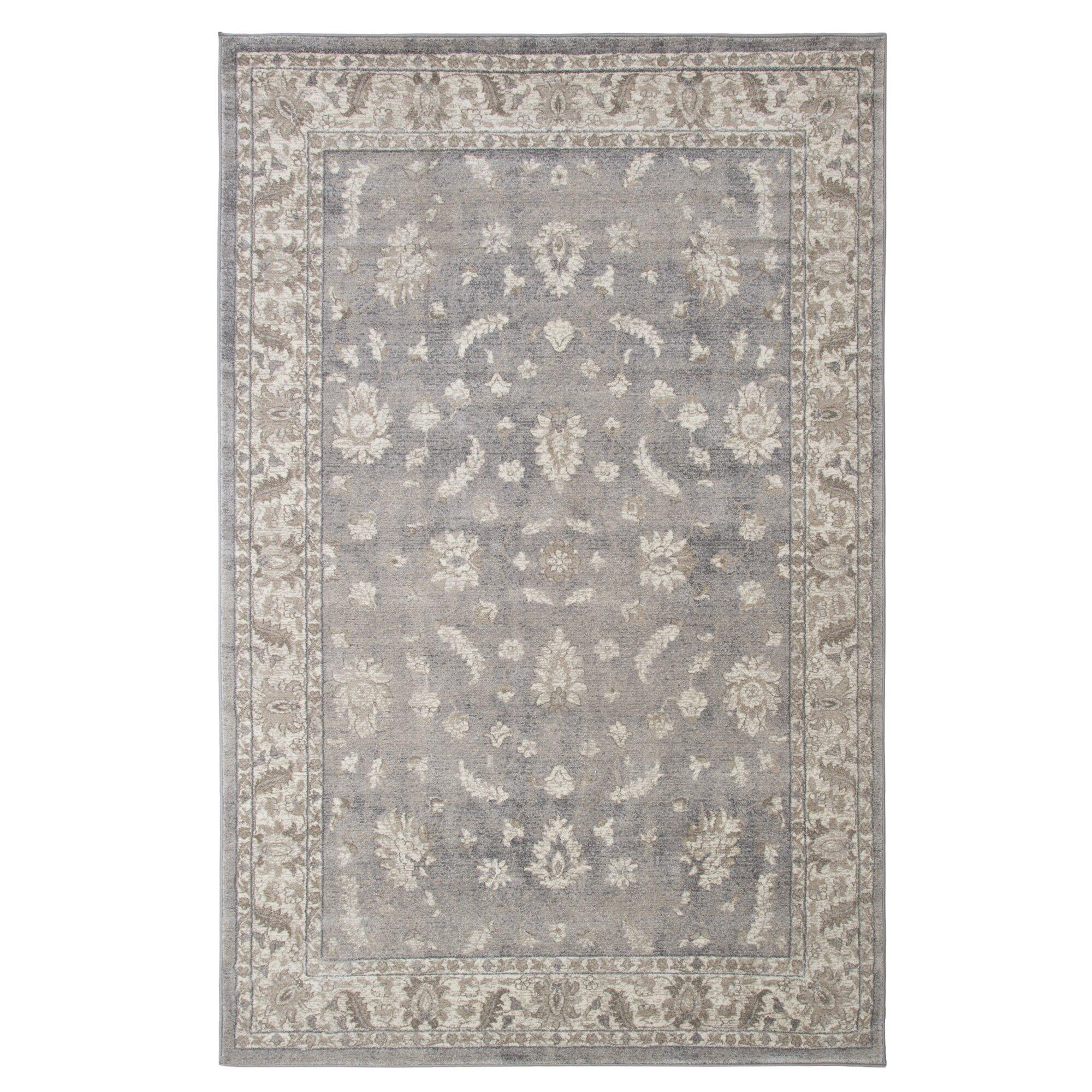 lavish home gray area rug wayfair