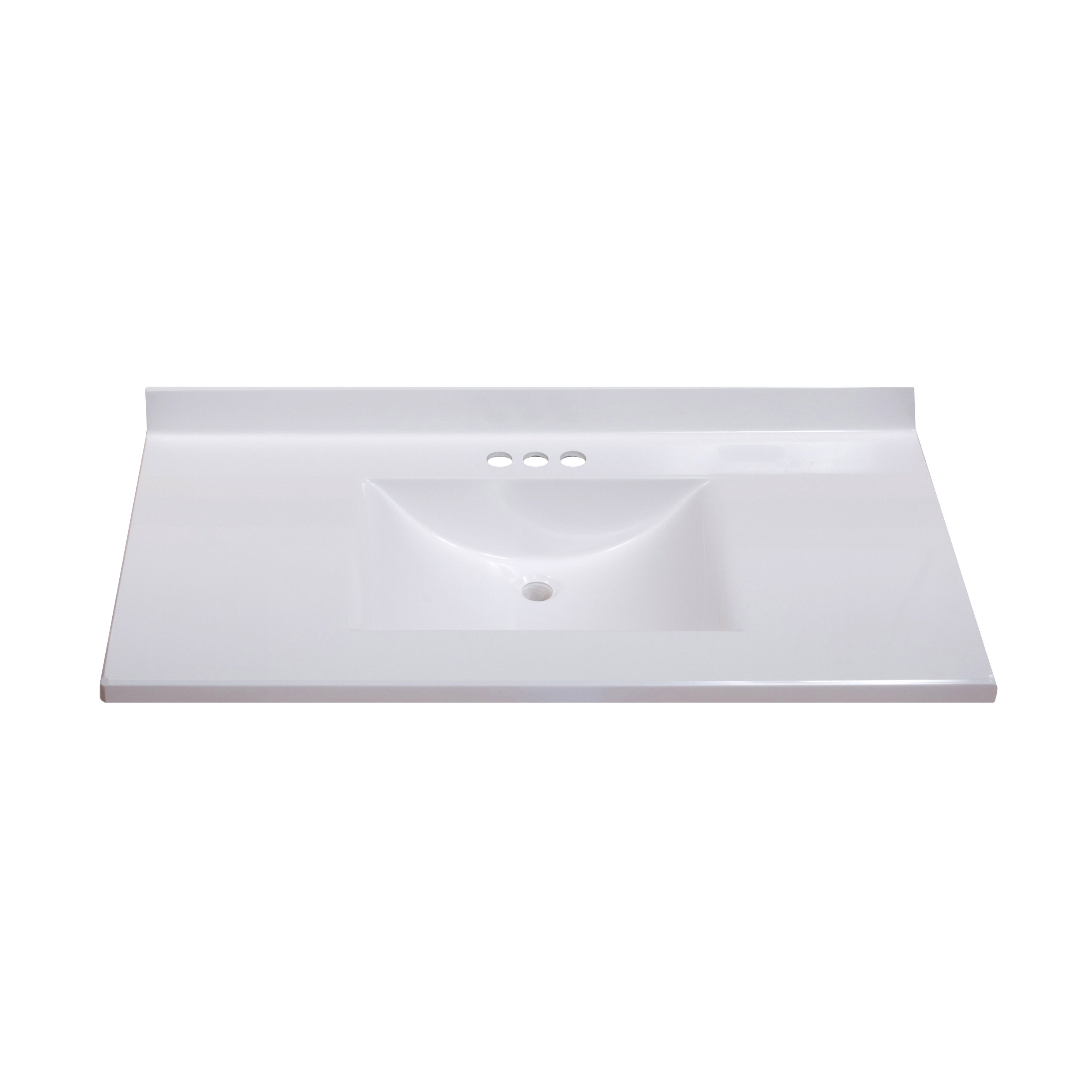 "Imperial Centre Wave Bowl 37"" Single Bathroom Vanity Top & Reviews"