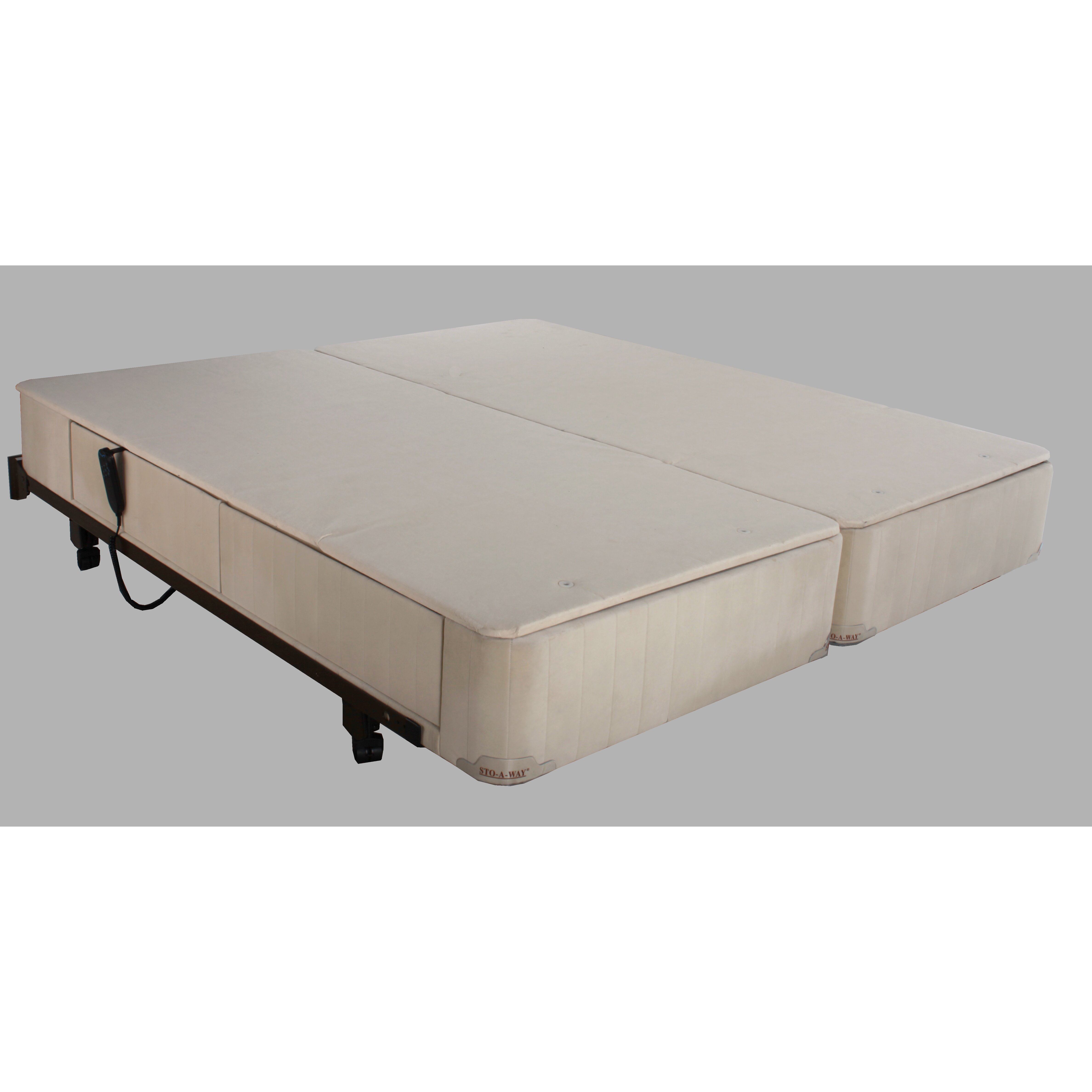 Seahawk Designs Full Electric Twin Extra Long Upholstered Adjustable Bed Wayfair