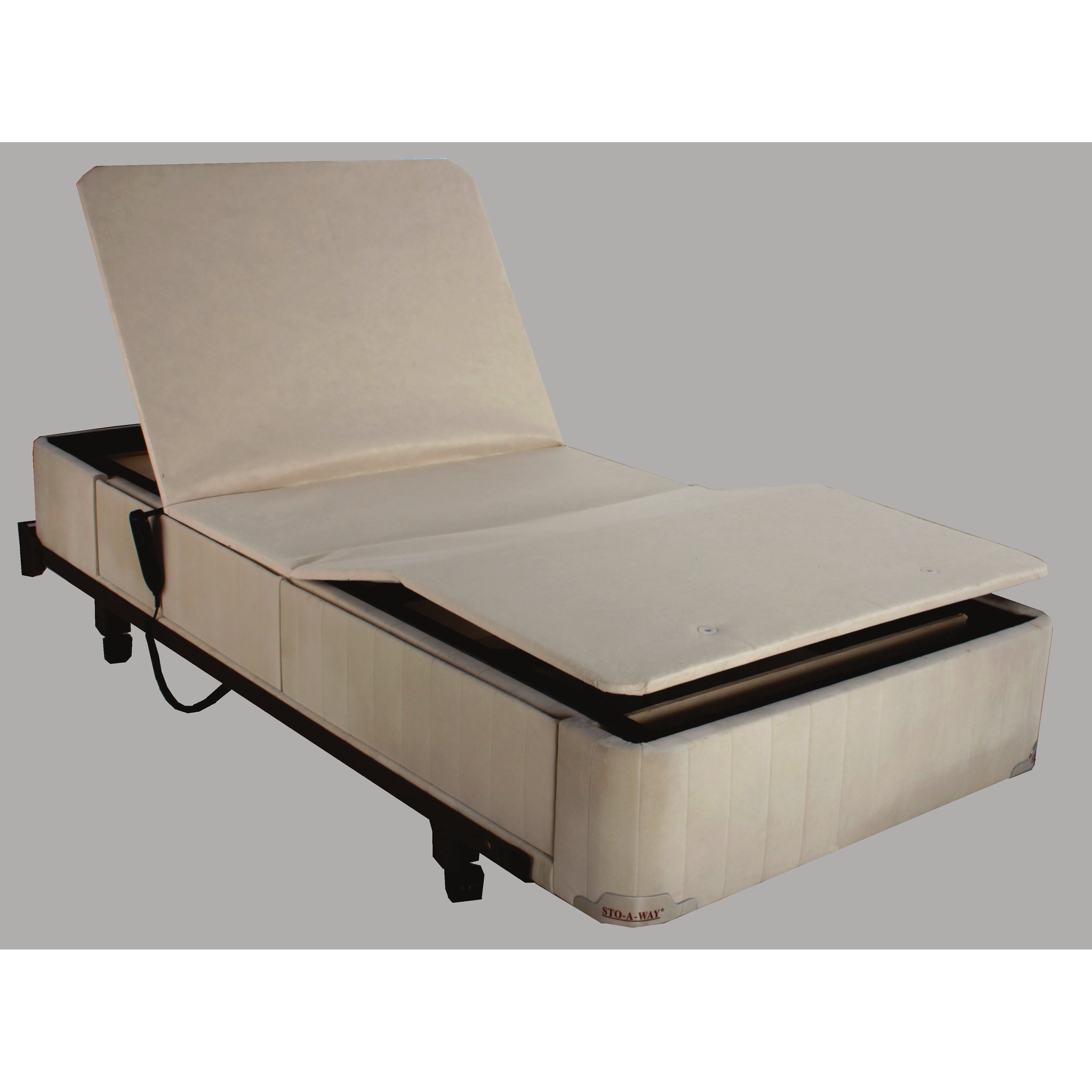 Seahawk Designs Full Electric Twin Extra Long Upholstered