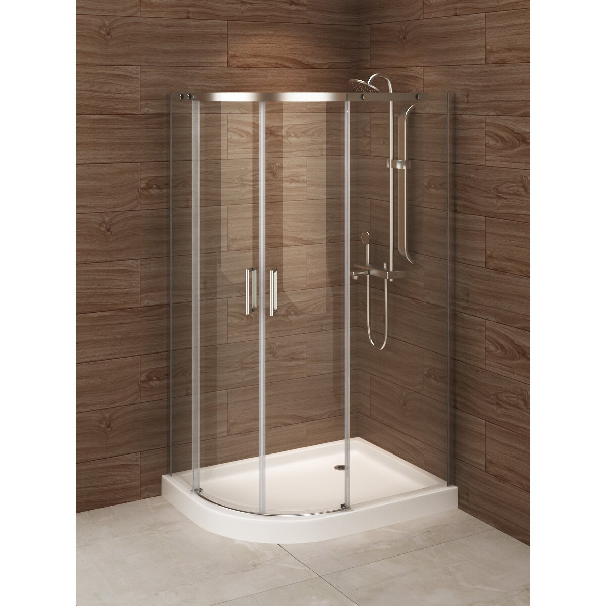 "A&E Bath And Shower Madrid 48"" X 36"" X 77"" Sliding Shower"