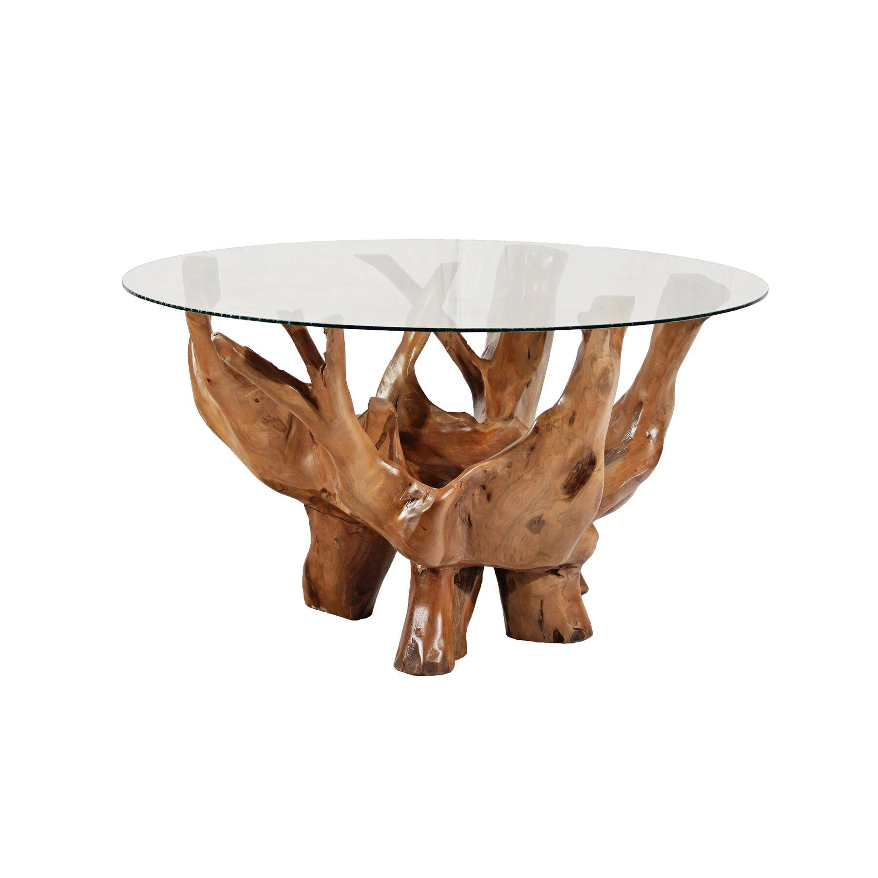 Ibolili Round Teak Root Coffee Table Wayfair