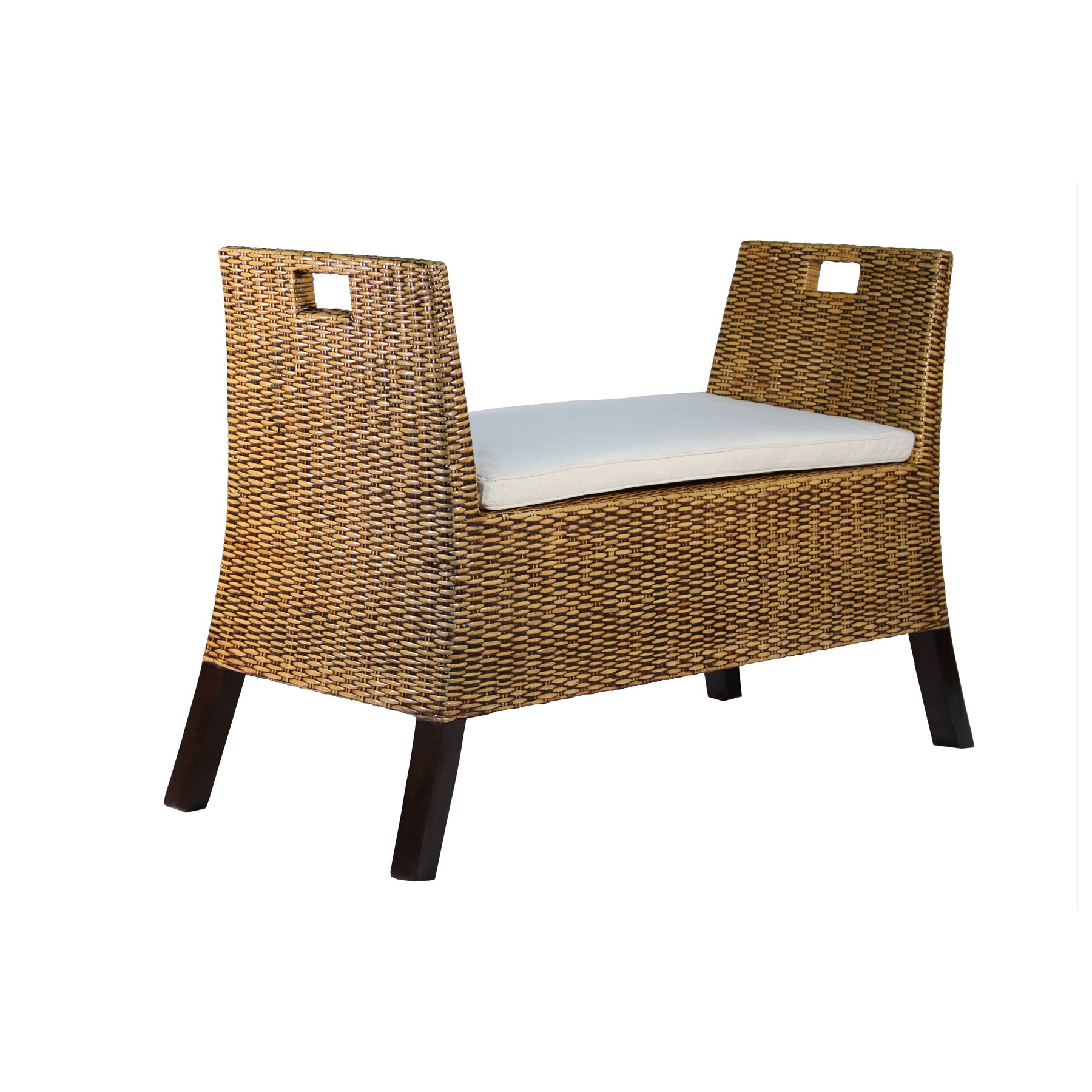 Ibolili Saka Rattan Bedroom Bench Wayfair