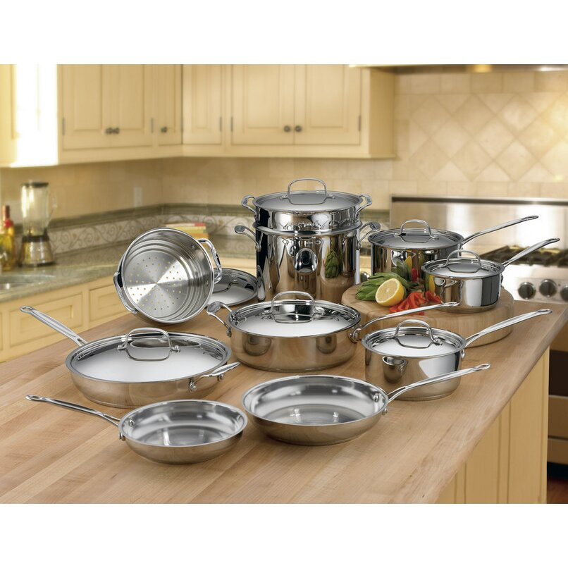 Cuisinart Chef 39 S Classic Stainless Steel 17 Piece Cookware