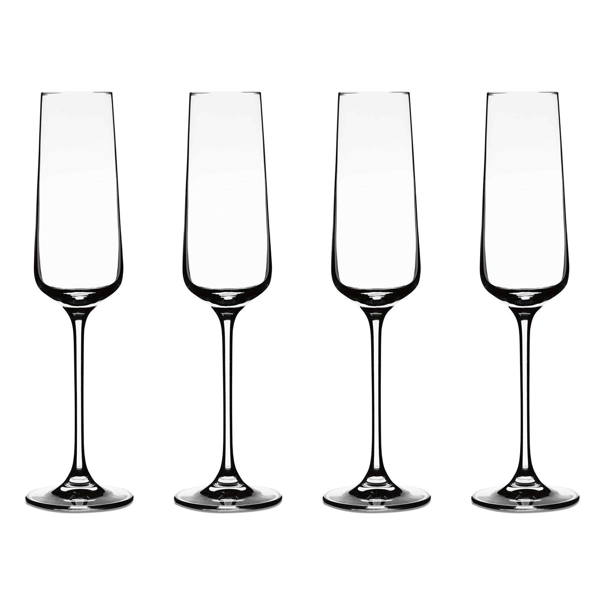 Cuisinart champagne flute glass reviews wayfair - Fluted wine glasses ...