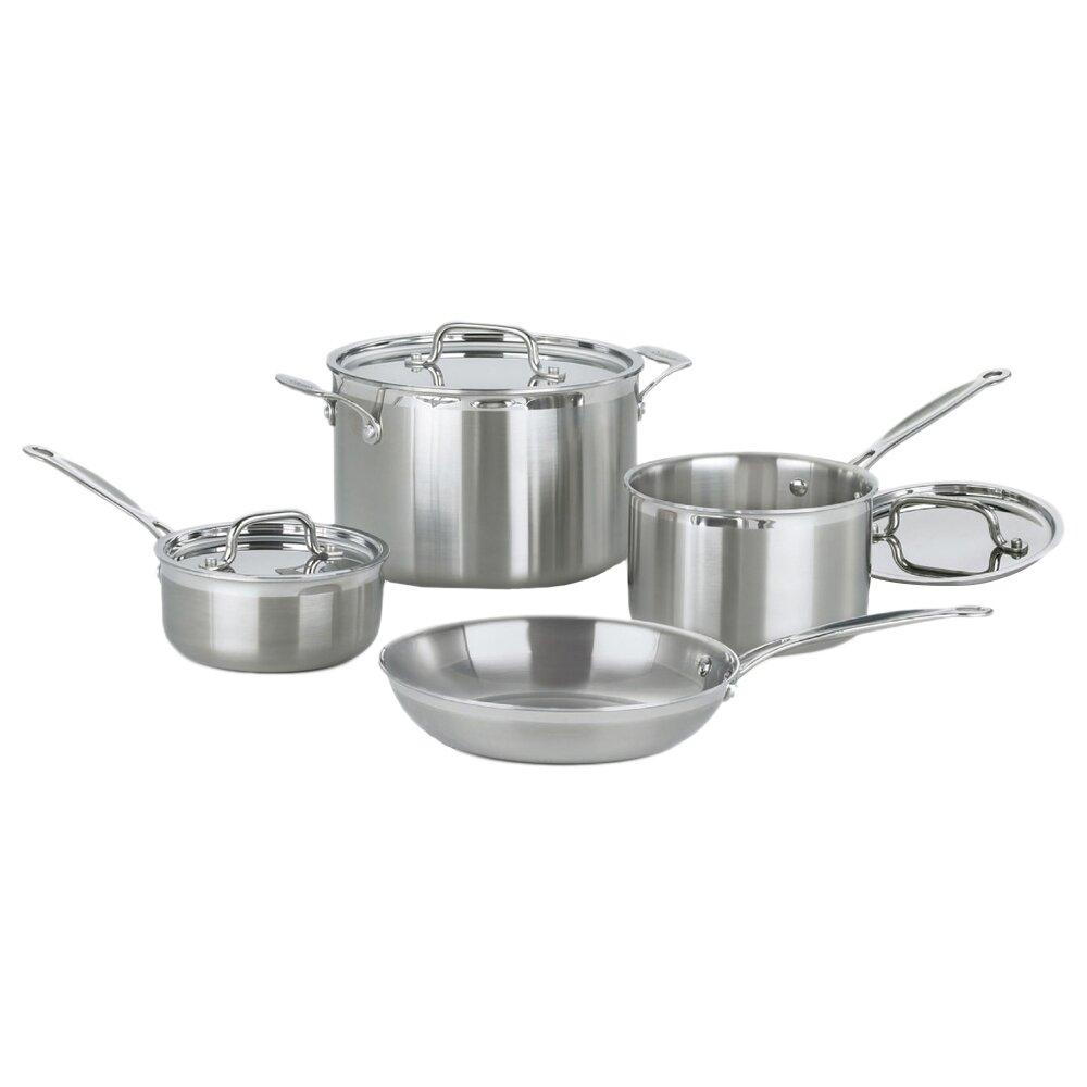 Cuisinart Multiclad Pro 7 Piece Cookware Set Reviews