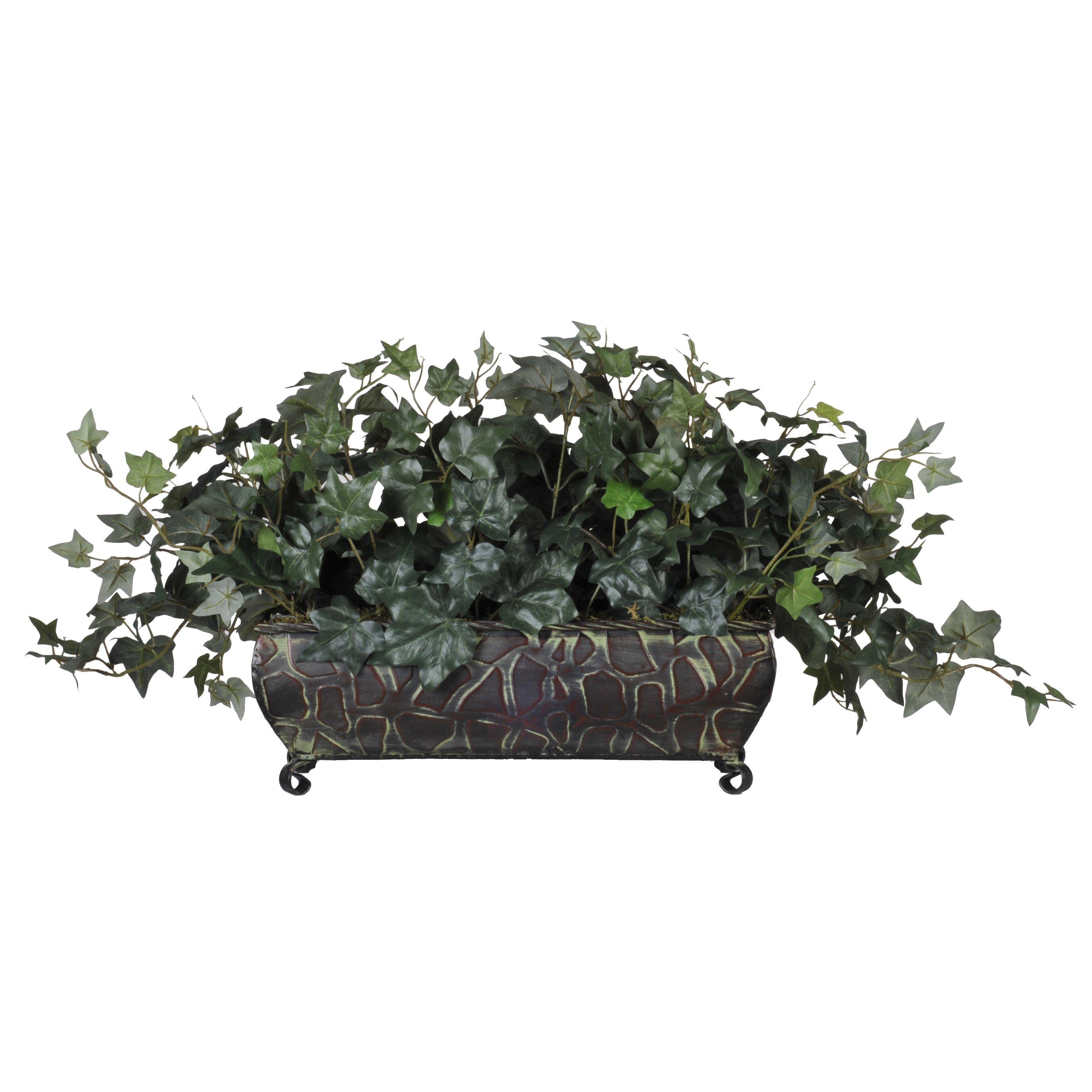 House of silk flowers artificial english ivy ledge desk for Plante a planter