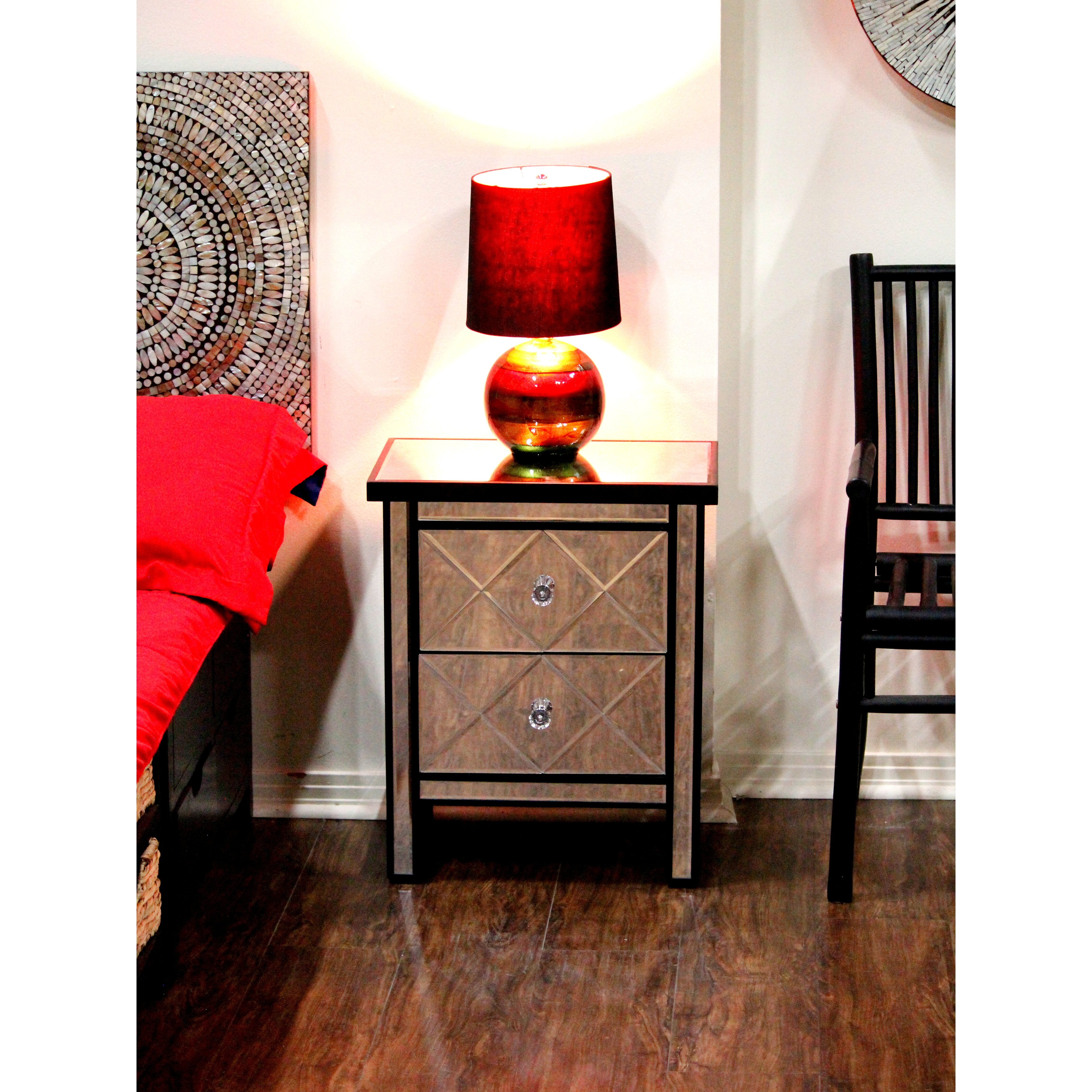 Heather Ann Wood Cabinet With Mirror