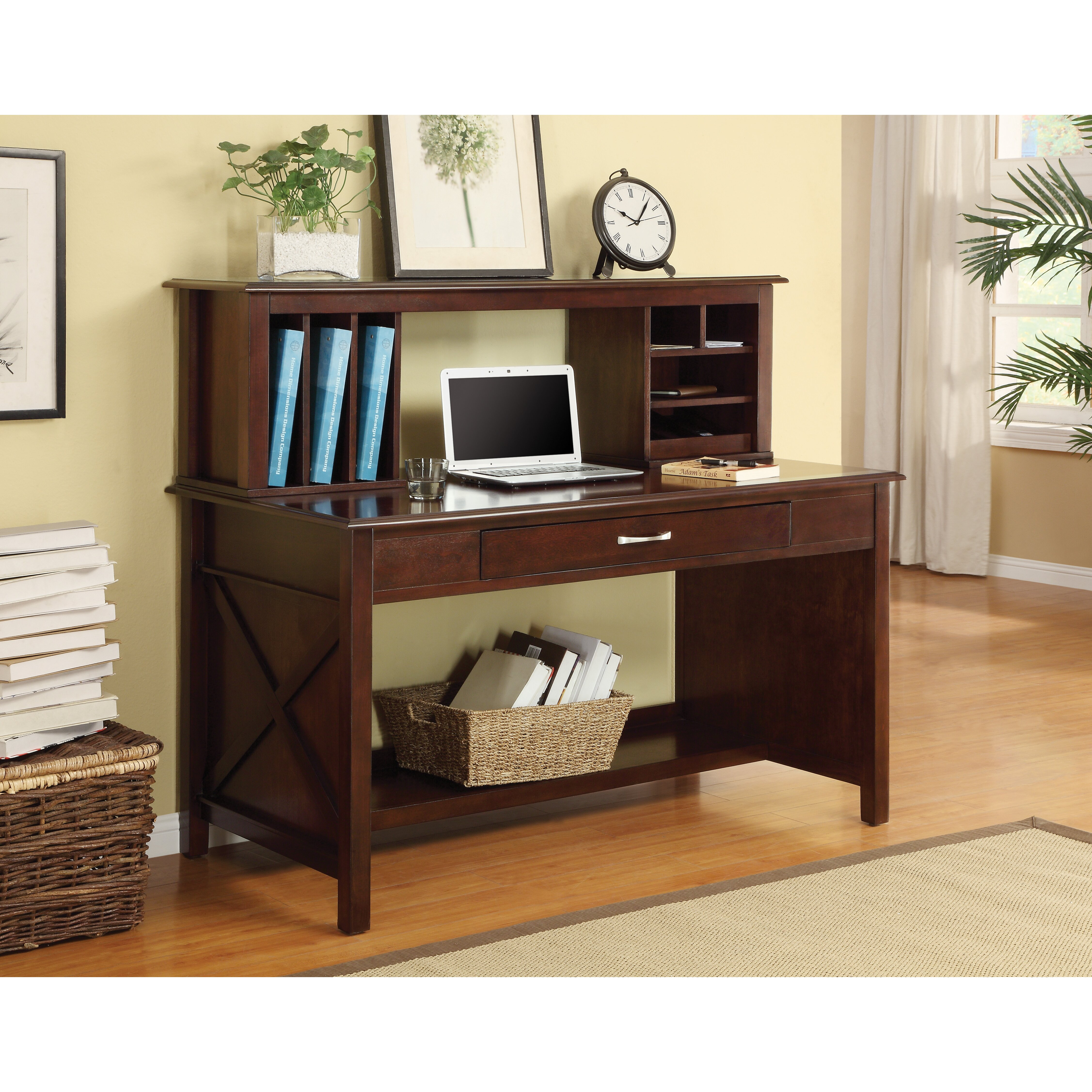 Inspired By Bassett Adeline Writing Desk With Hutch