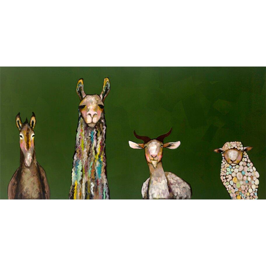 "GreenBox Art ""Donkey, Llama, Goat, Sheep"" by Eli Halpin ..."