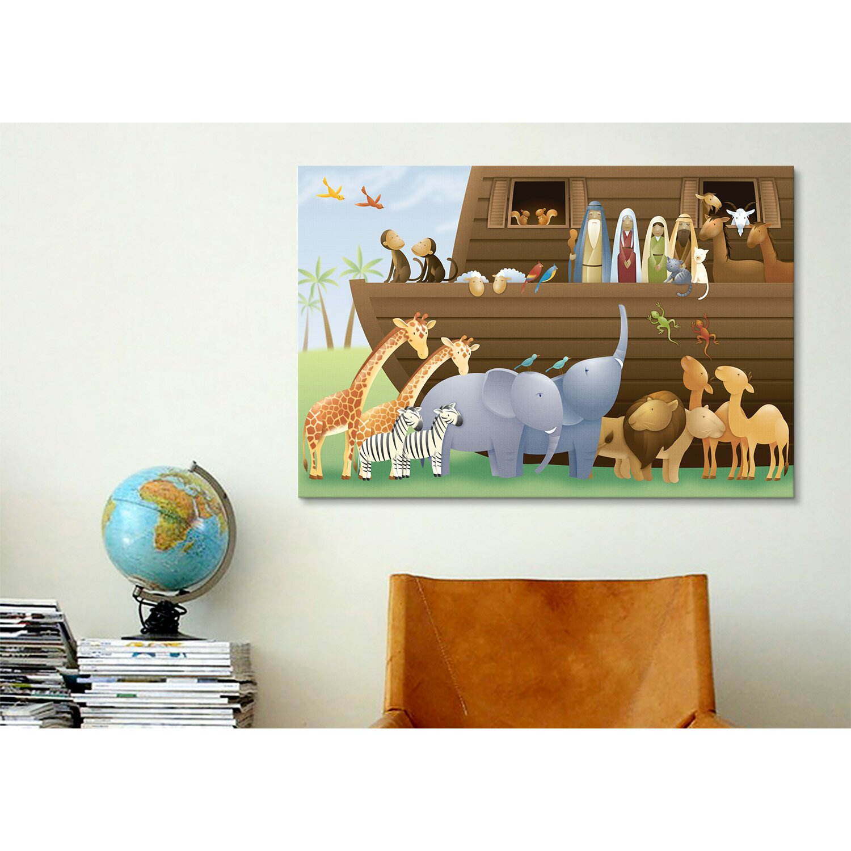 icanvas kids children noah 39 s ark canvas wall art reviews wayfair. Black Bedroom Furniture Sets. Home Design Ideas