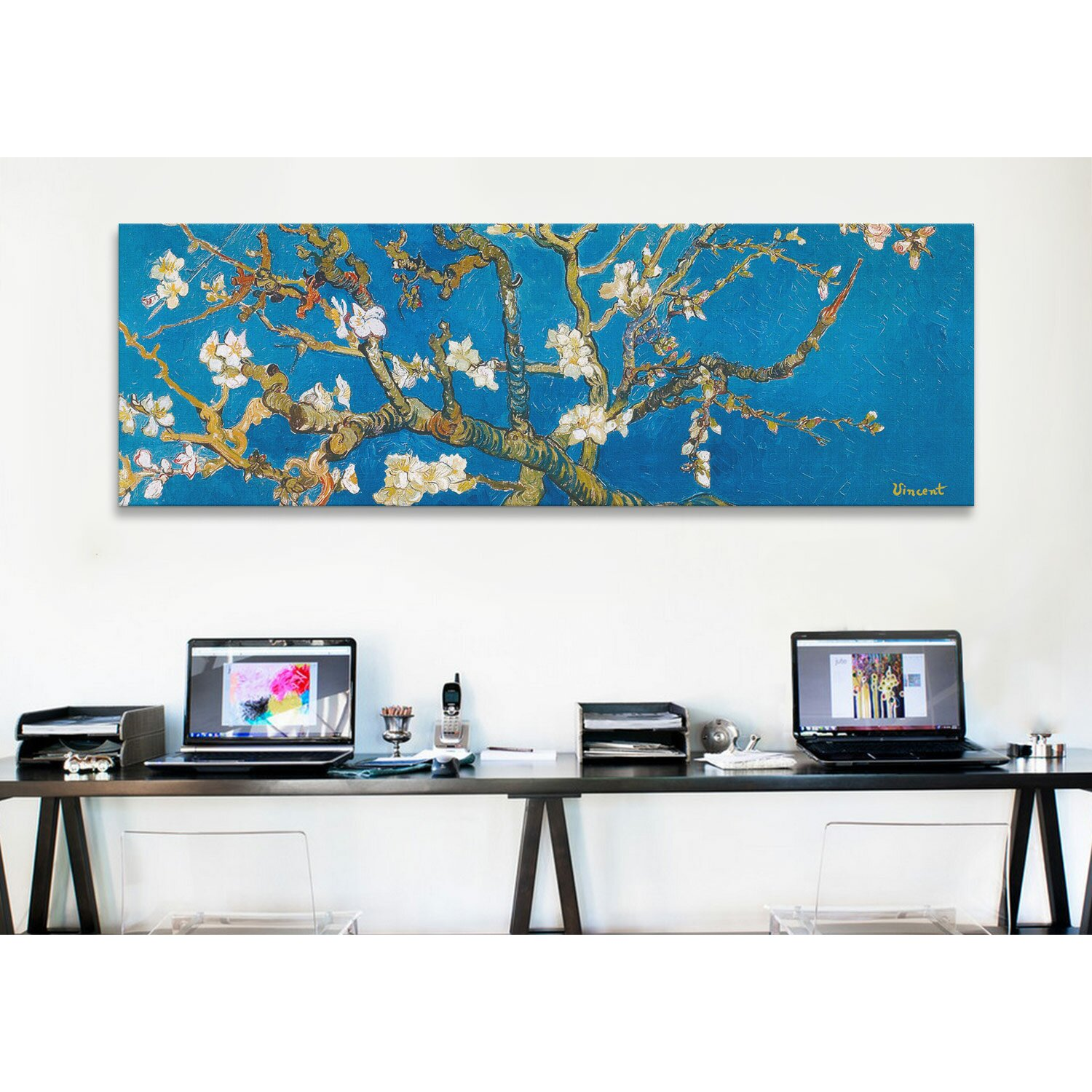 """iCanvas """"Almond Blossom"""" by Vincent Van Gogh Painting Print on Canv"""