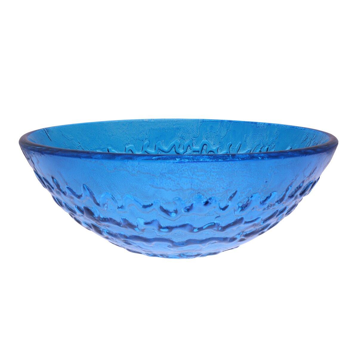 Novatto Mare Glass Vessel Bathroom Sink & Reviews Wayfair