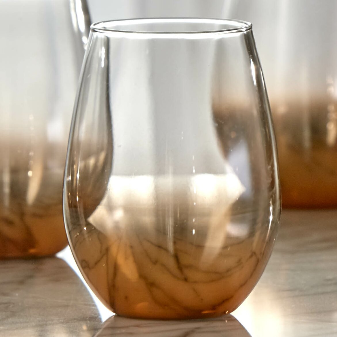 Fitz and Floyd 20 oz Stemless Wine Glass & Reviews