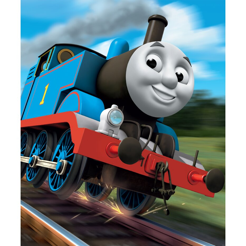 walltastic thomas the tank engine wall mural reviews. Black Bedroom Furniture Sets. Home Design Ideas